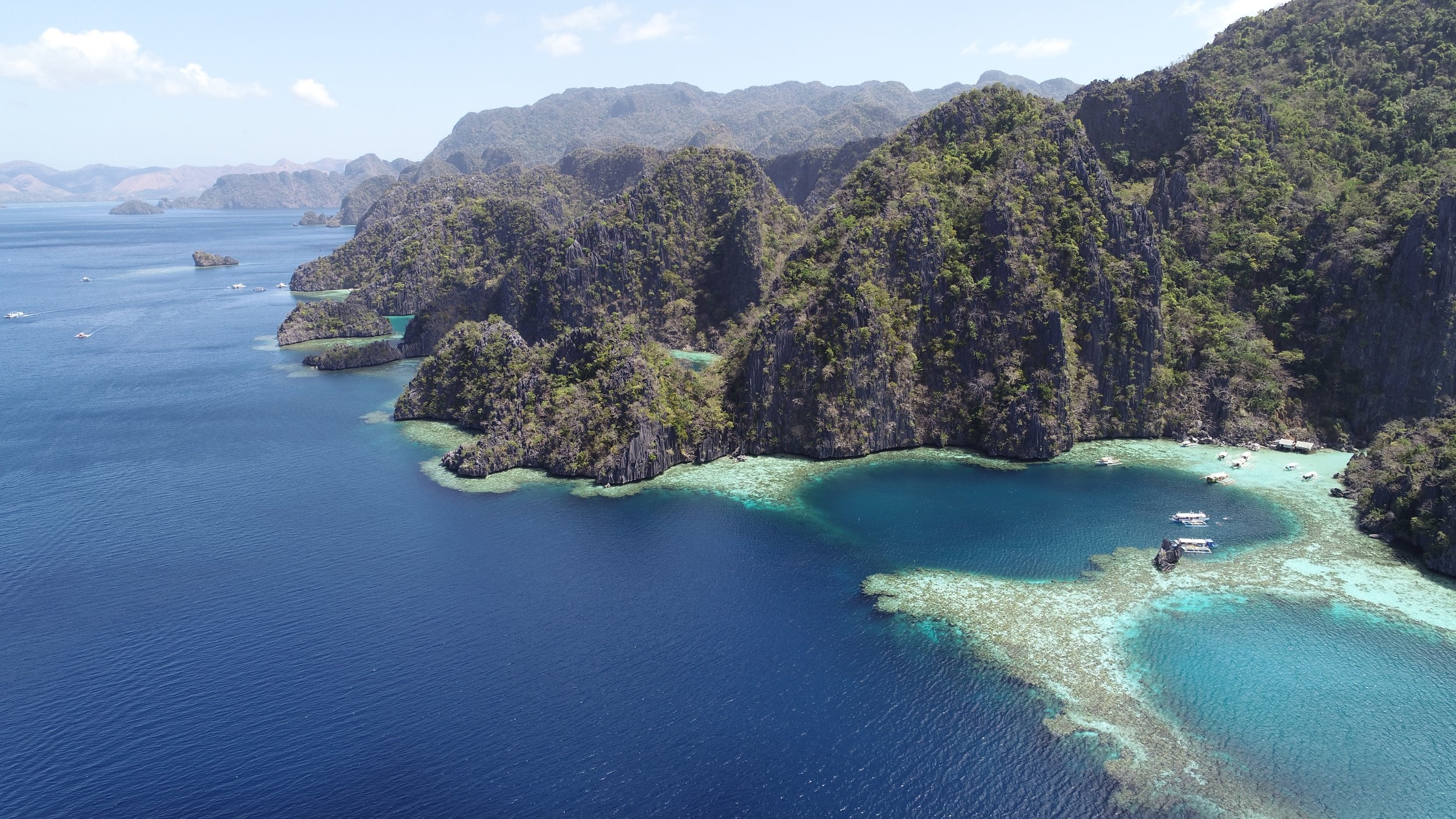 Arriving at Barracuda Lake in Coron, Philippines