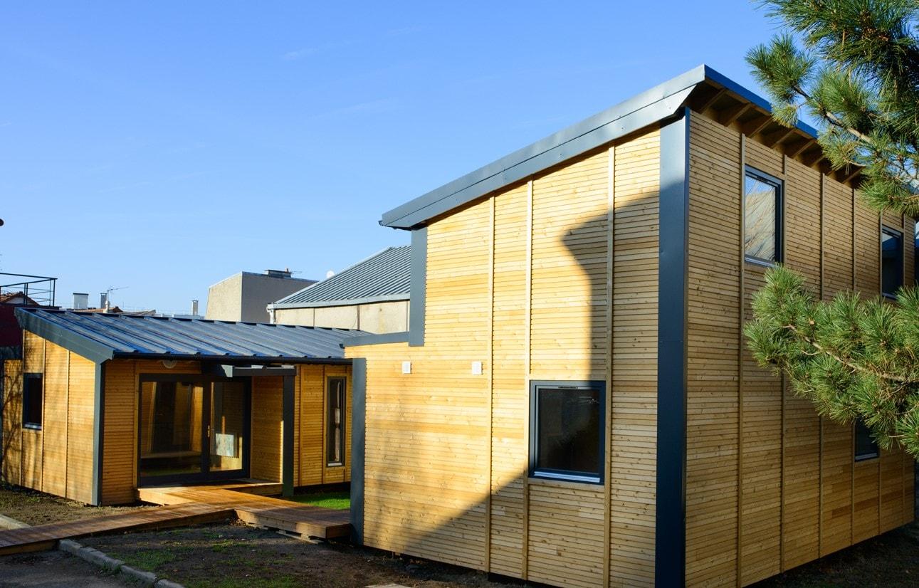 Agilcare Malakoff bâtiment démontable modulaire bois éco-responsable