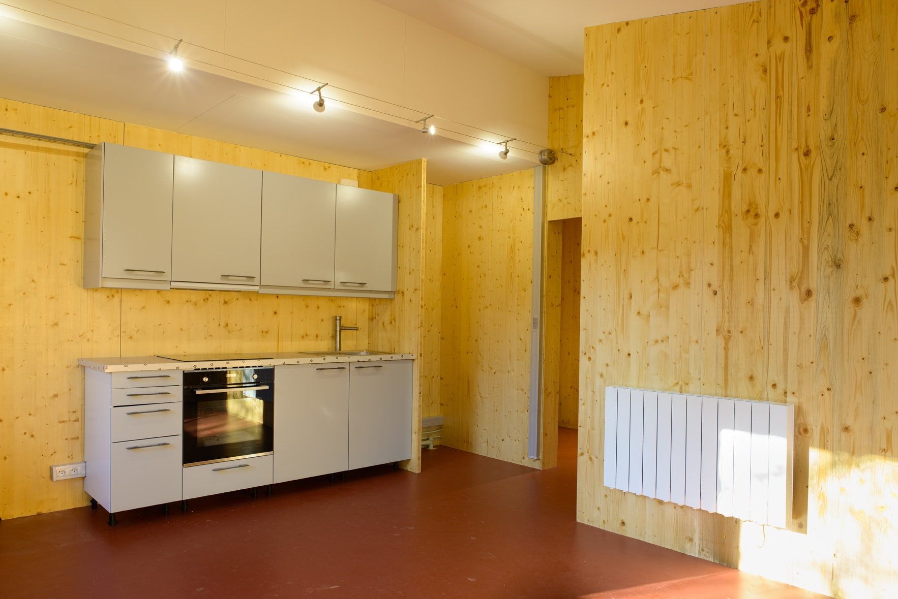 Intérieur bois modulaire démontable agilcare maison qui déménage