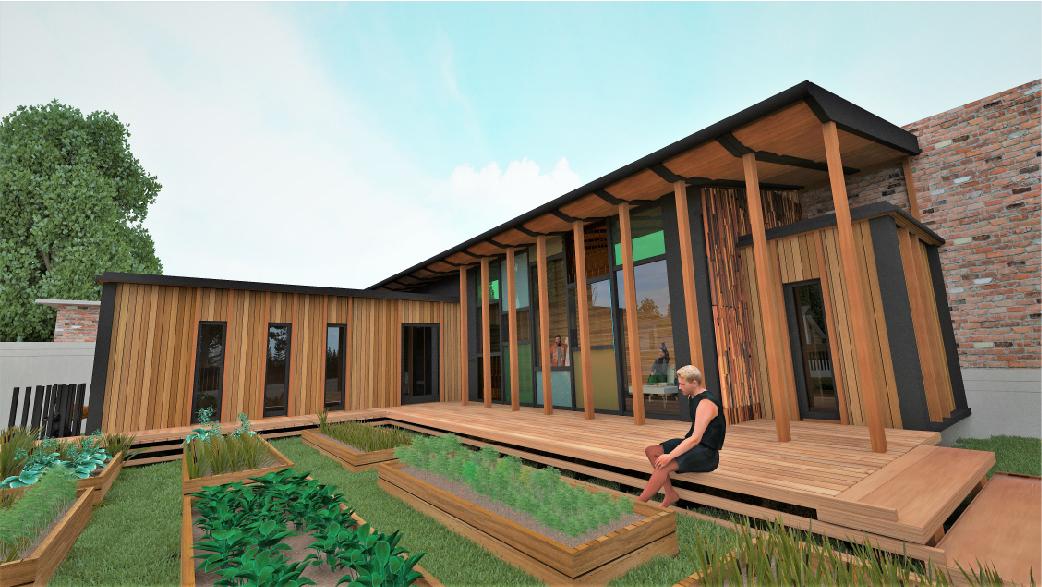 Construction temporaire bois accueil public Agilcare