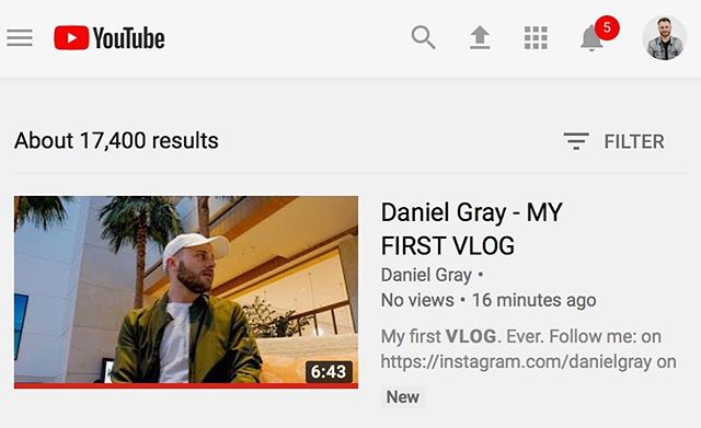 My first VLOG ever is up on YouTube now. This is gonna be fun. 😃 [link in bio]