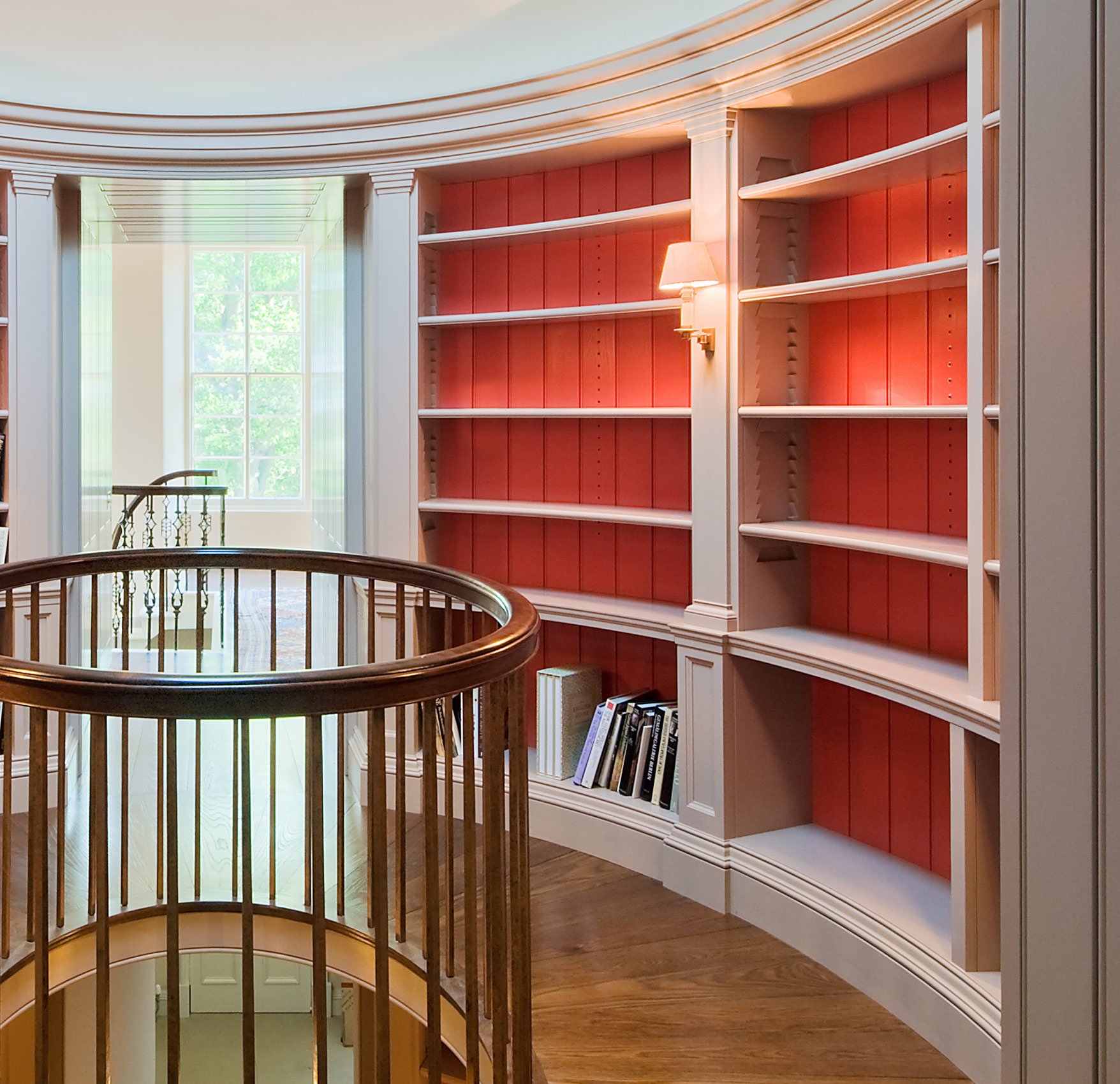 Elliptical bookcase scheme, Edinburgh.