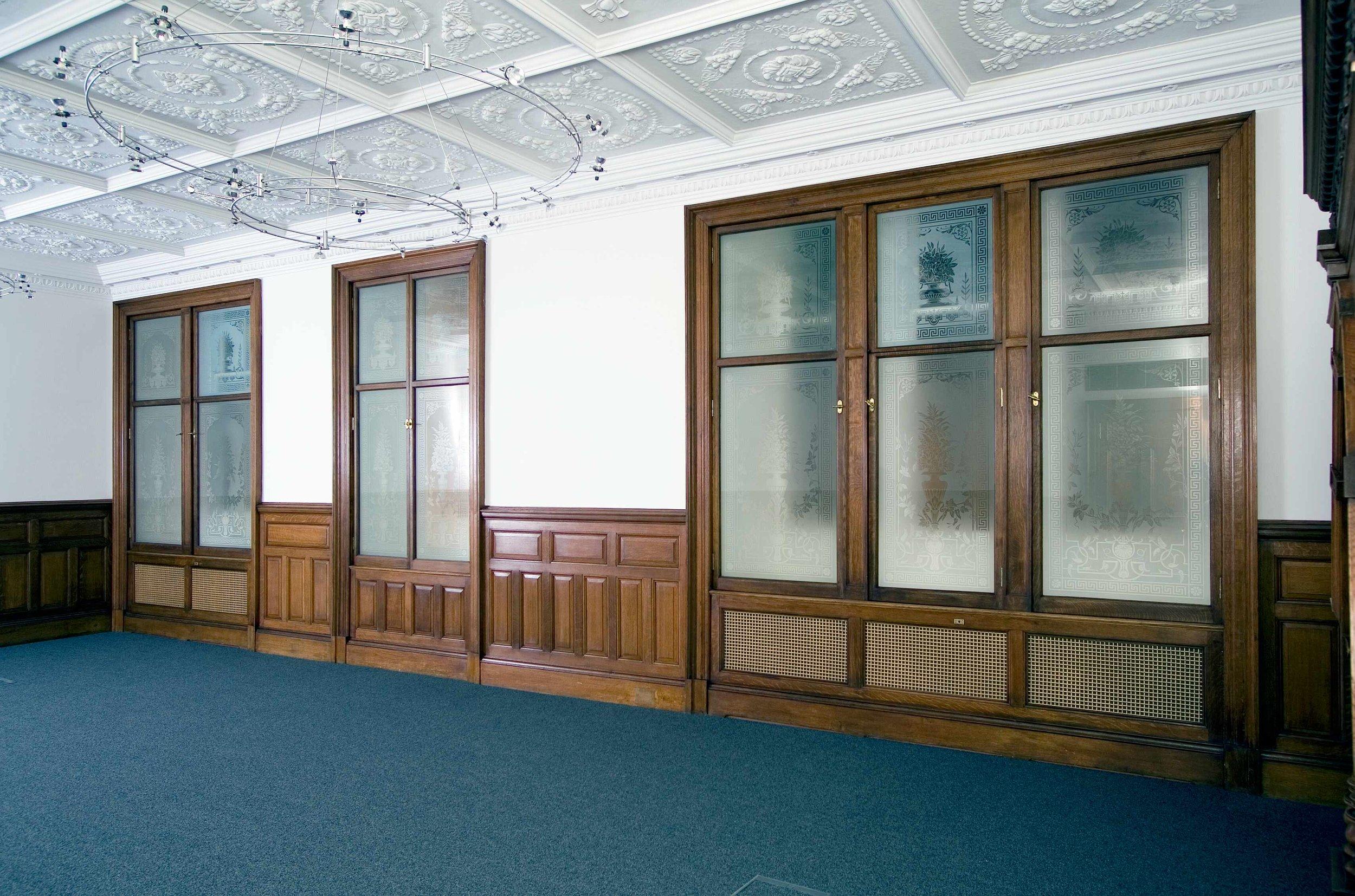 Restoration of panelling scheme, doors and windows, Scotmid headquarters, Edinburgh.
