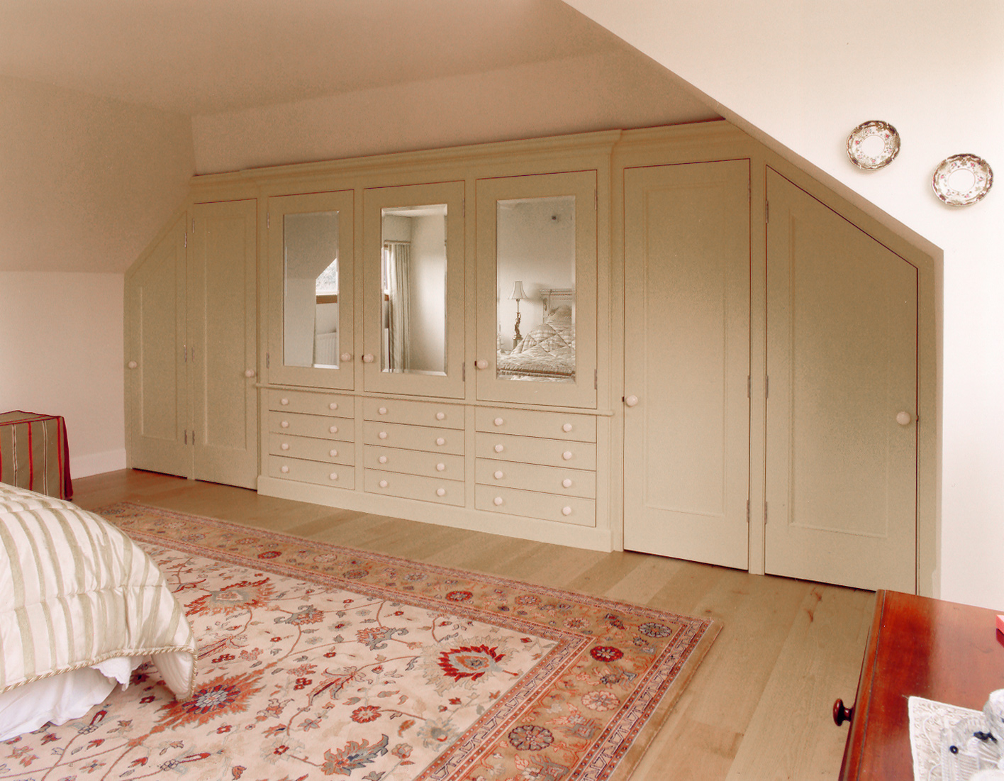 Fitted wardrobes in private house, Lothian.