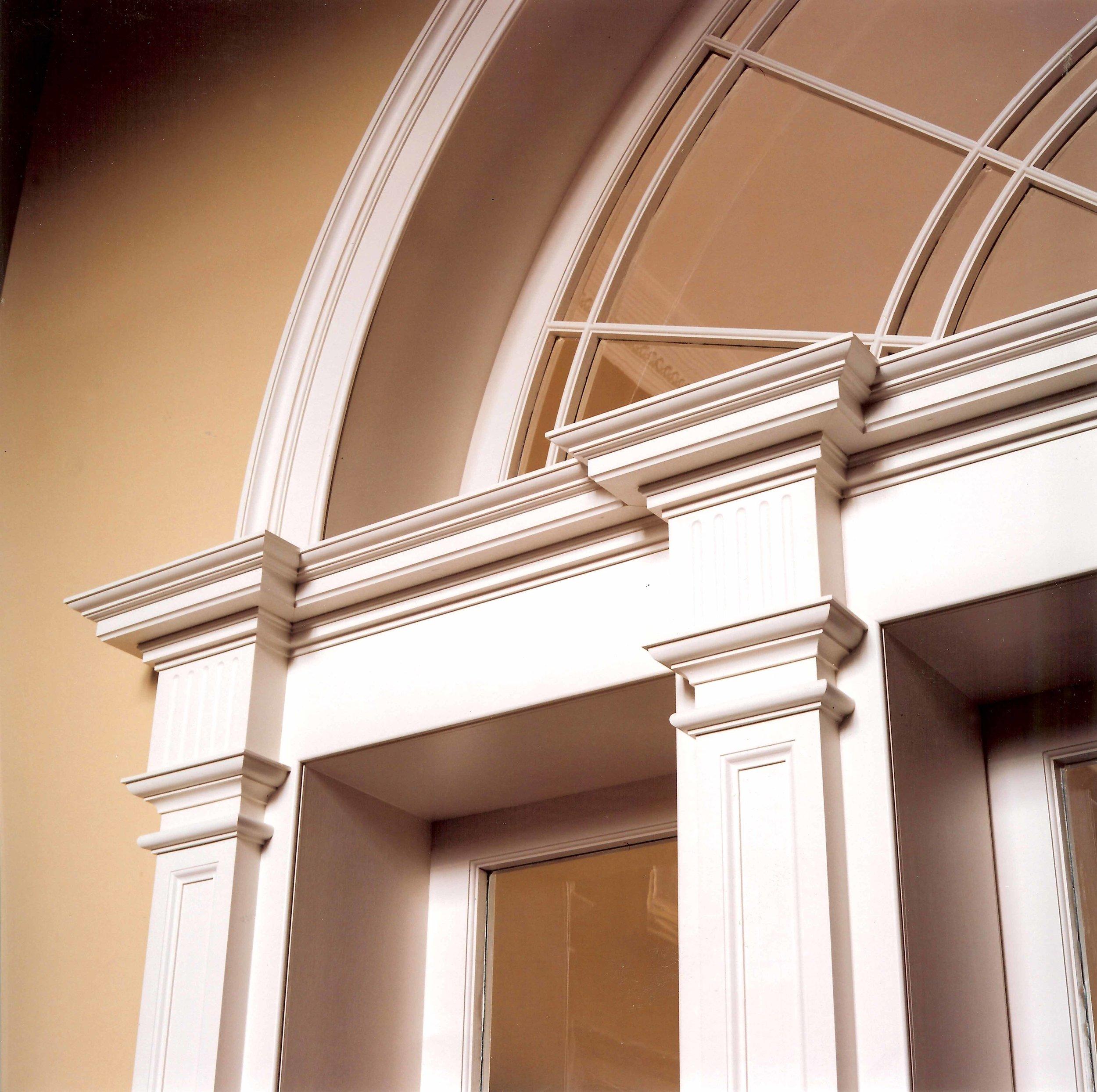 Detail of replica period door screen, Edinburgh.
