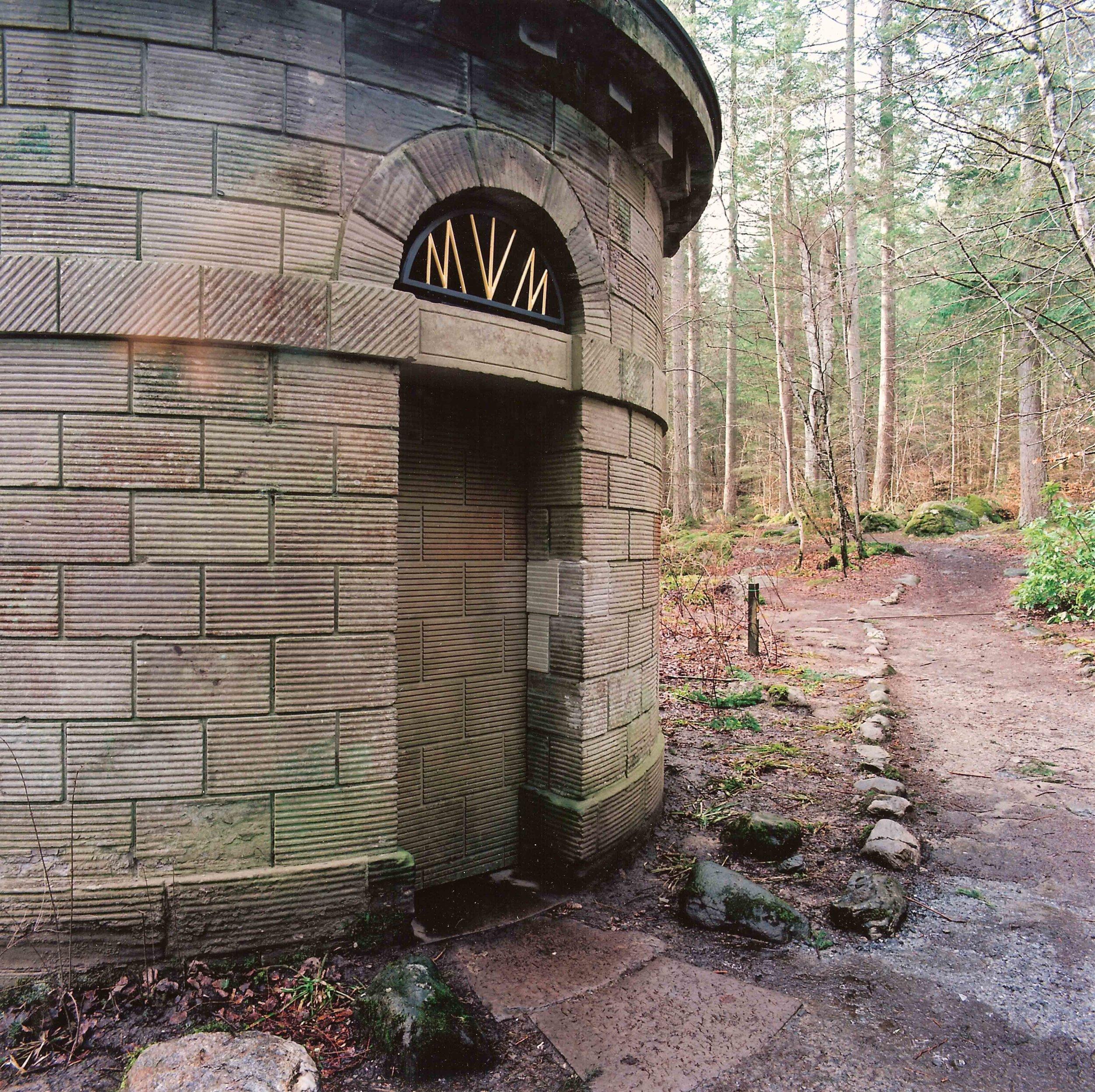 Bespoke secret door for Ossian's Hall, The Hermitage, Dunkeld.