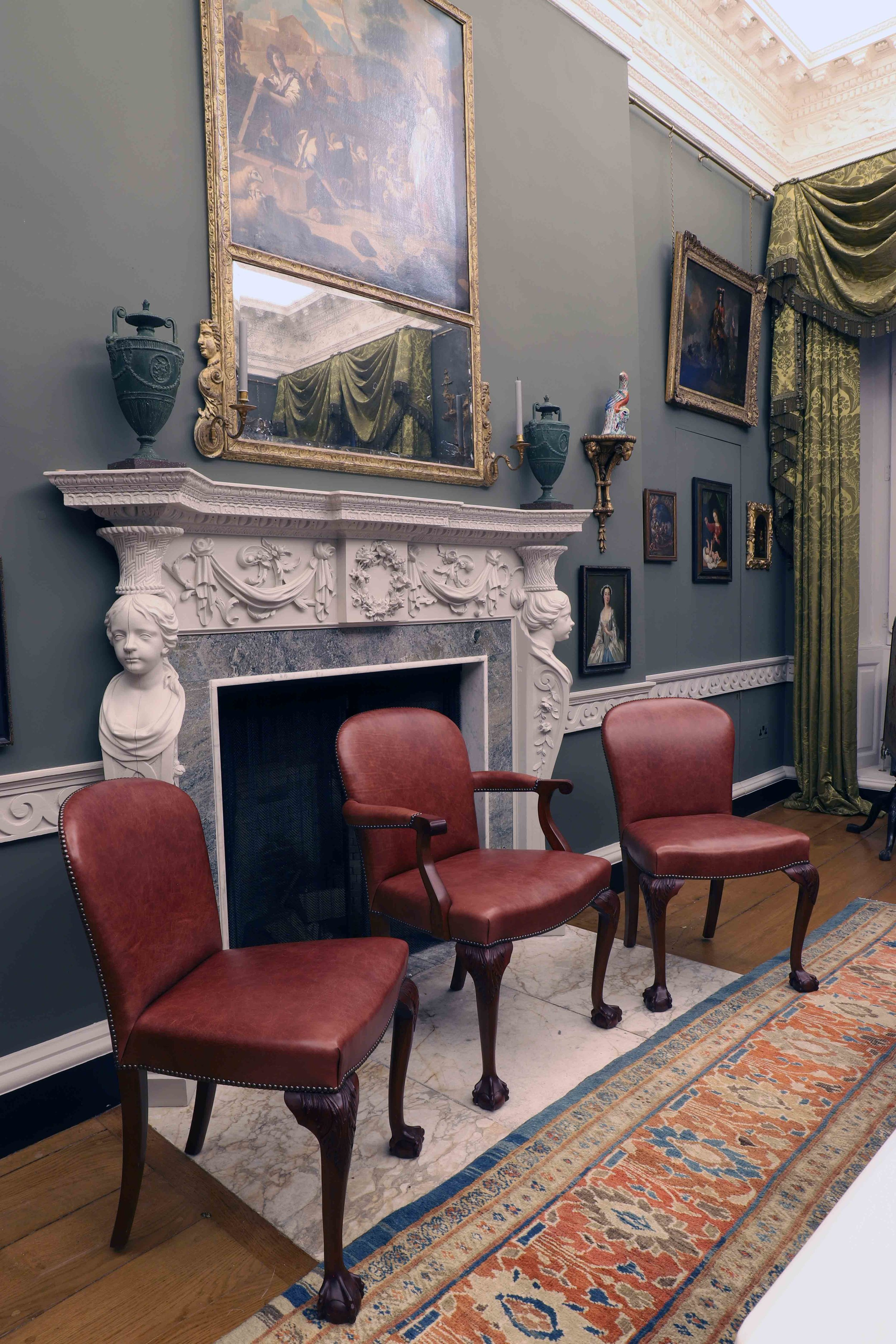 Set of reproduction dining chairs, Marchmont house, Greenlaw.