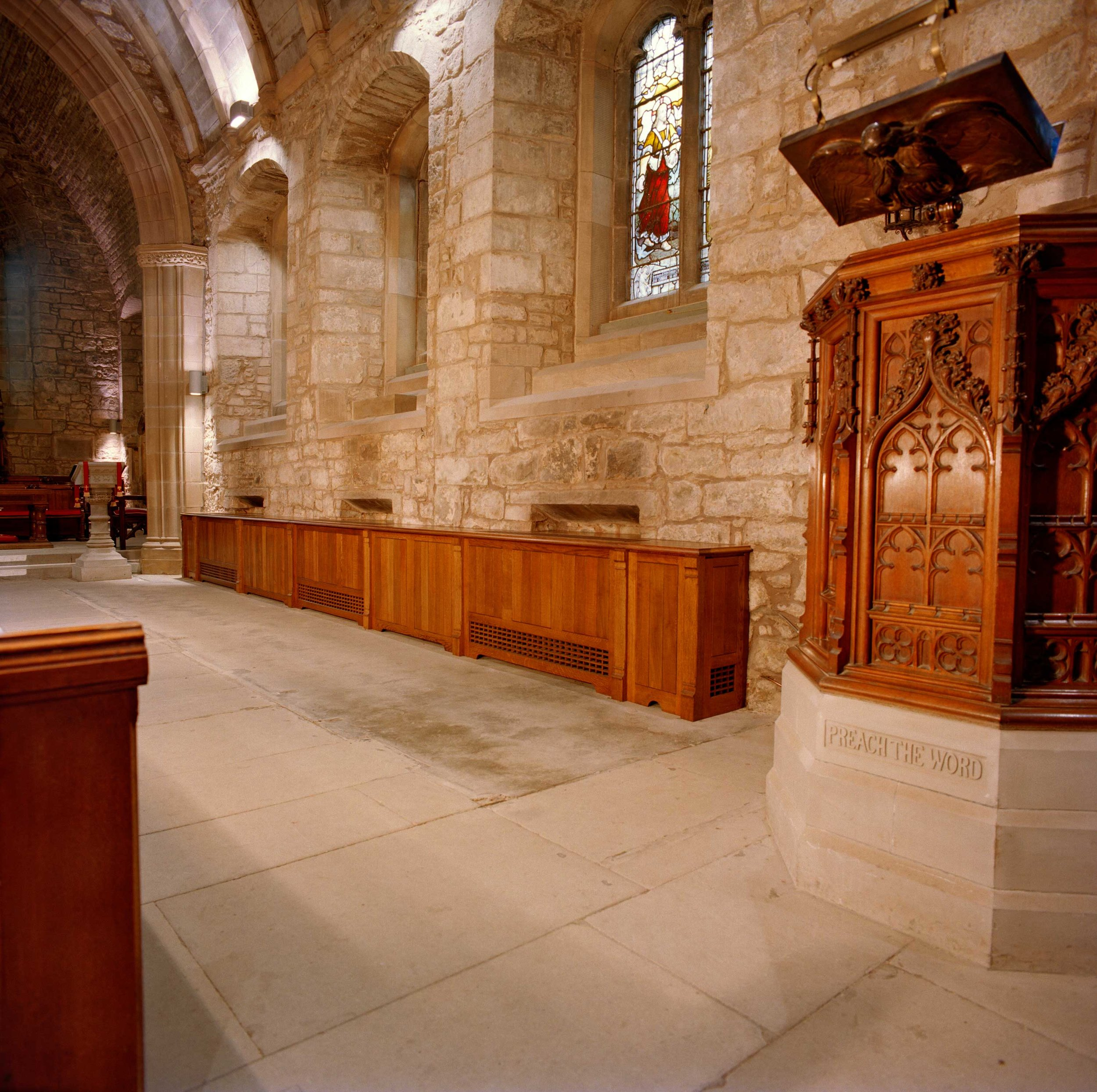 Cabinets in Corstorphine Parish Church, Edinburgh.