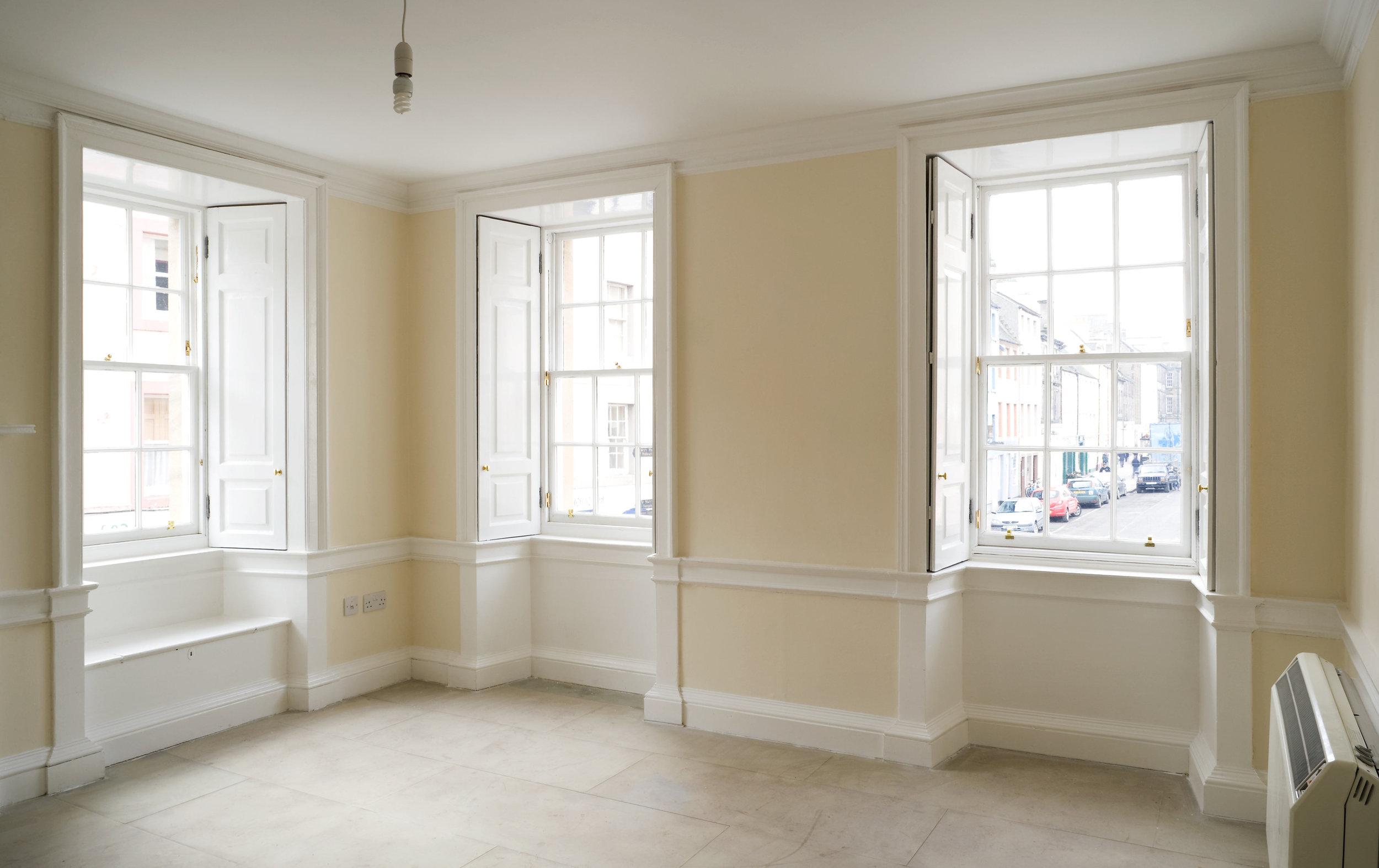 New sash and case windows, Edinburgh.
