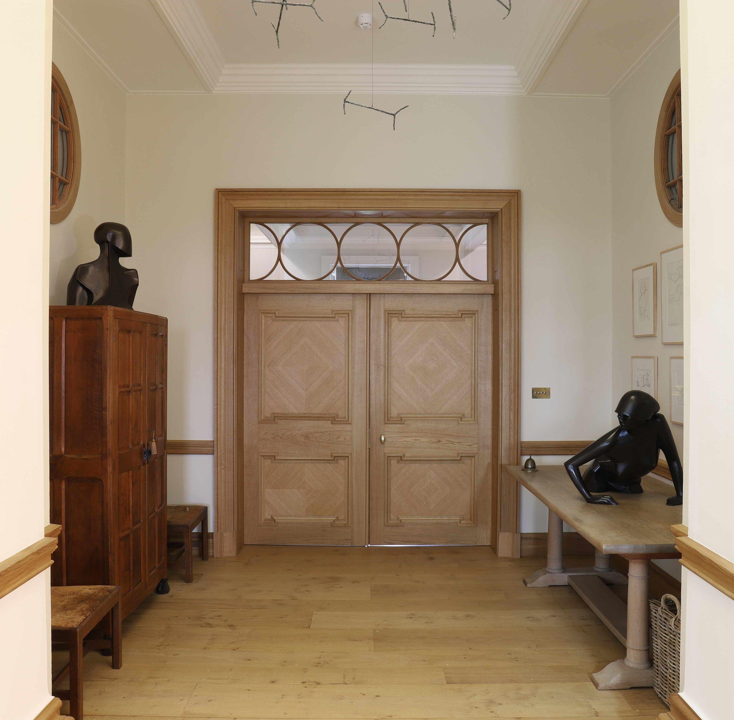 Door screen with circular astragals, Marchmont House.
