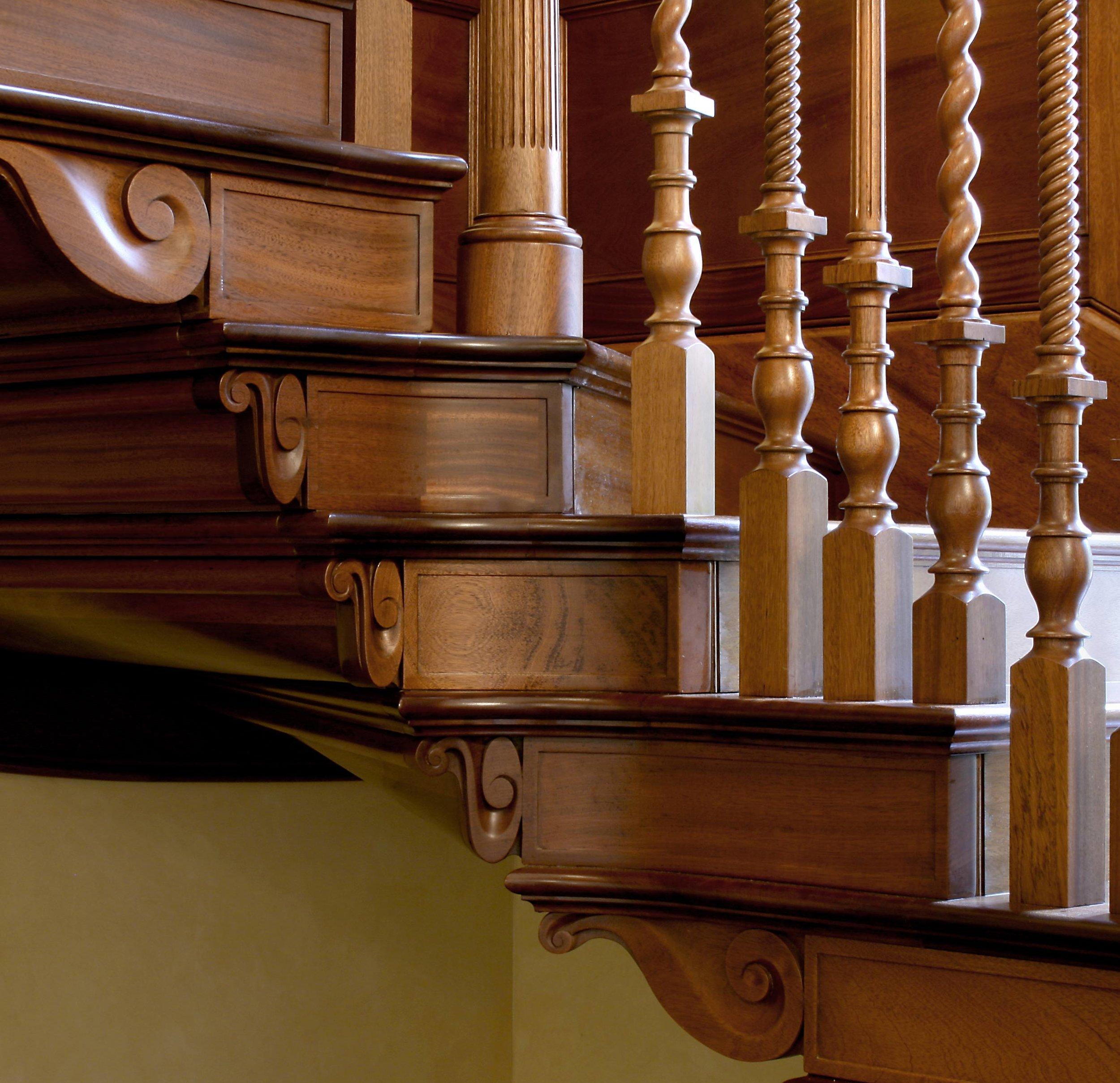 Bespoke period staircase in Utile, Eilean Aegas, Beauly.