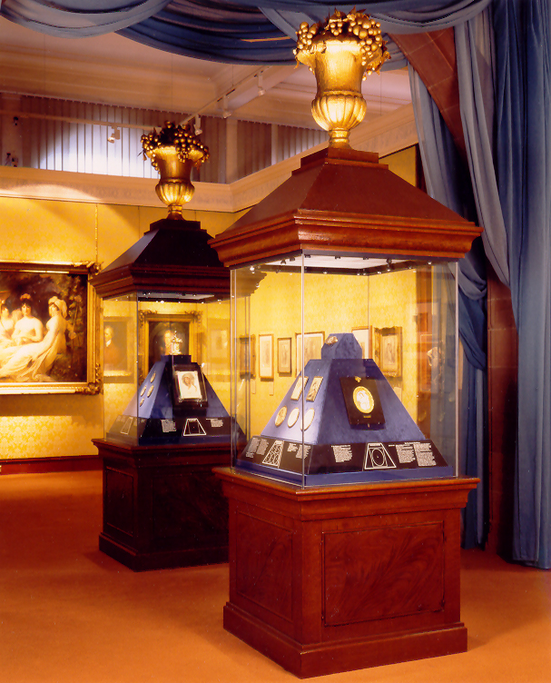 National Galleries Scotland display cases.