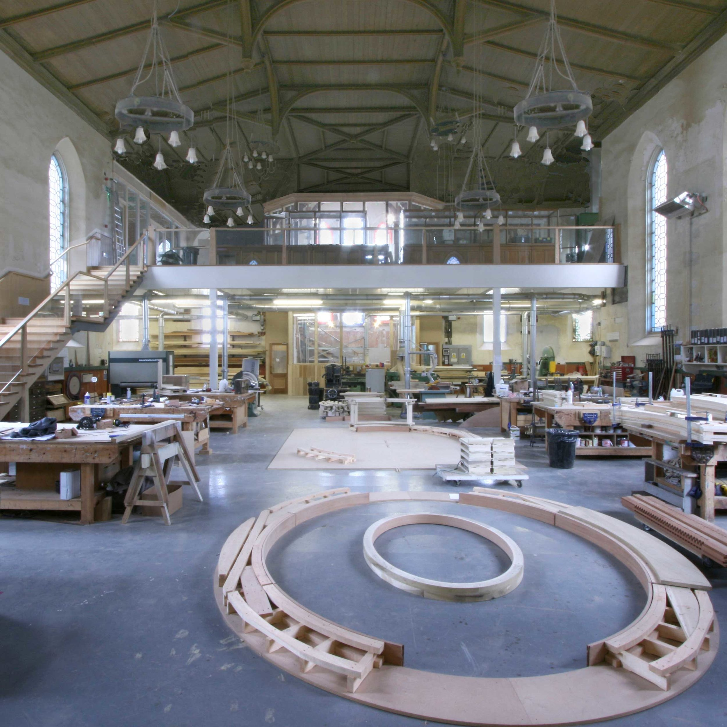Cabinetmakers workshop, Charles Taylor Woodwork.