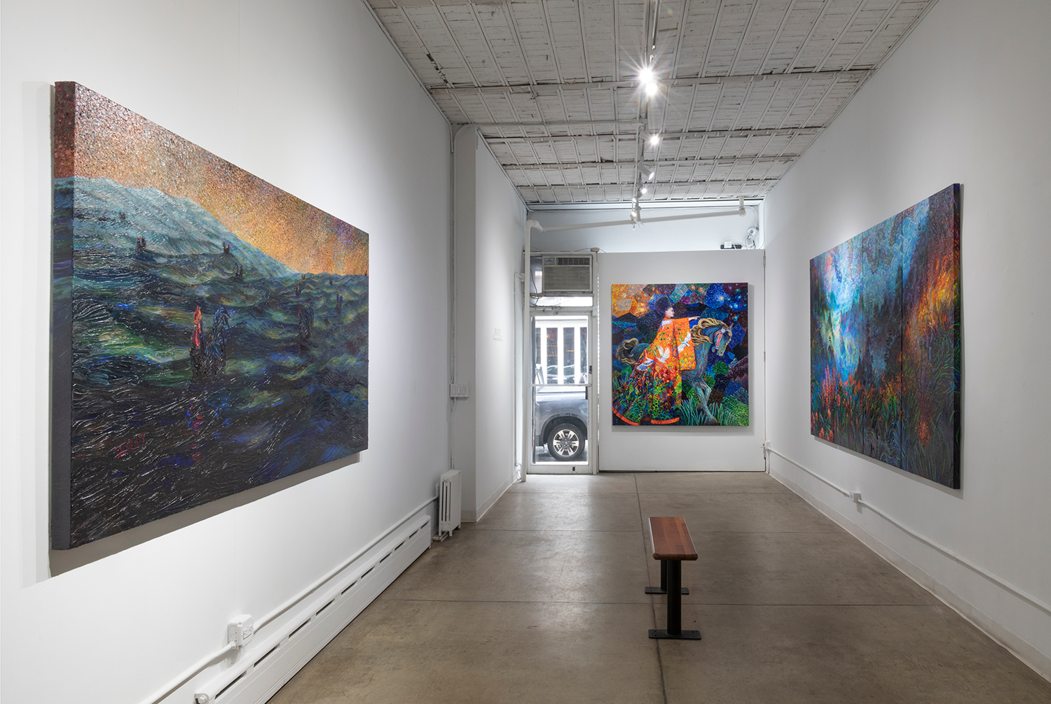 Original artworks by finger painting artist Iris Scott exhibited in the Filo Sofi Arts NYC gallery.png