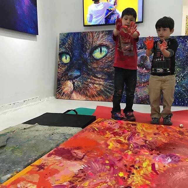 Finger painting with toddlers at Filo Sofi Arts with Iris Scott.jpg