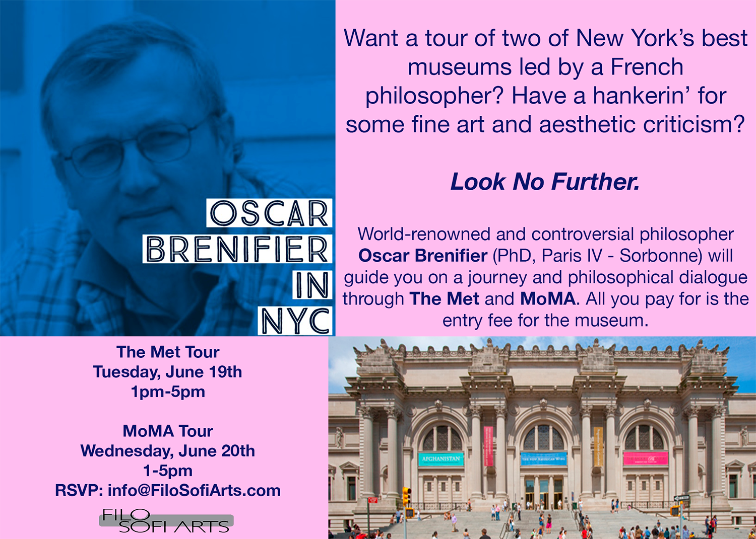 Philosophical dialogue at MoMA guided by world renowned philosopher Oscar Brenifier