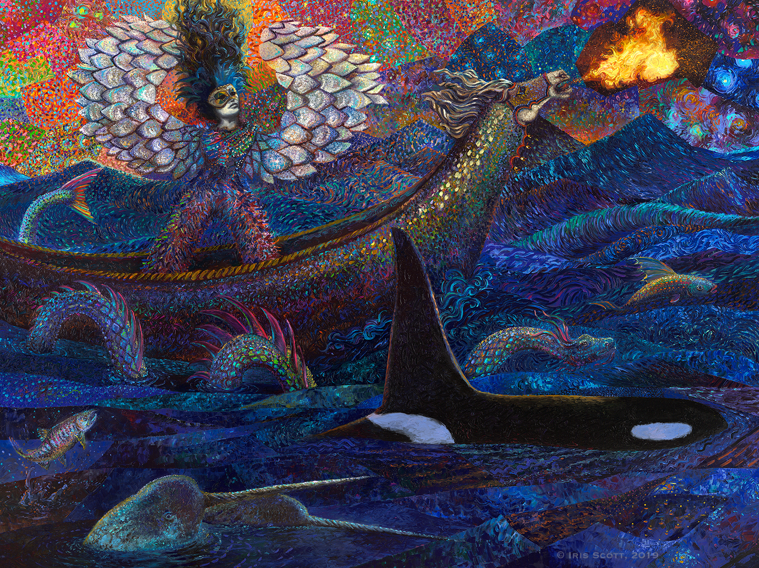 Exodus of Pisces | 96 x 72 inches