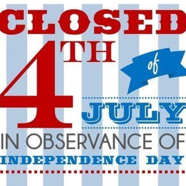 We will be back to regular hours in Thursday July 5th 🇺🇸🎆