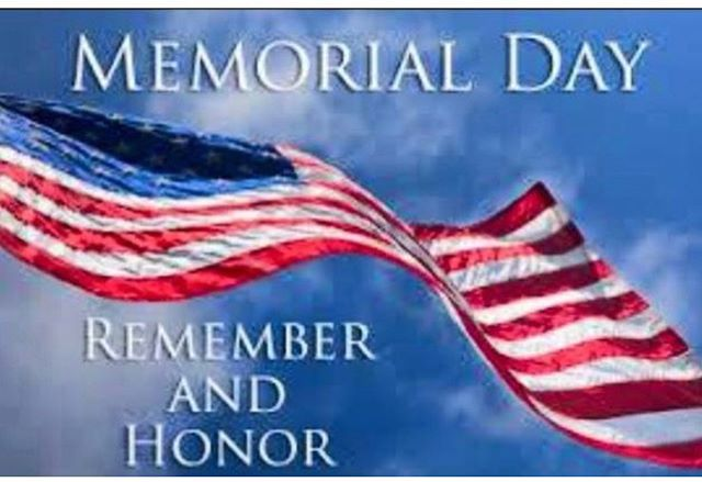 We will be closed Saturday May 25 and Monday May 27.  Thank you to all who serve and have served our country! 🇺🇸
