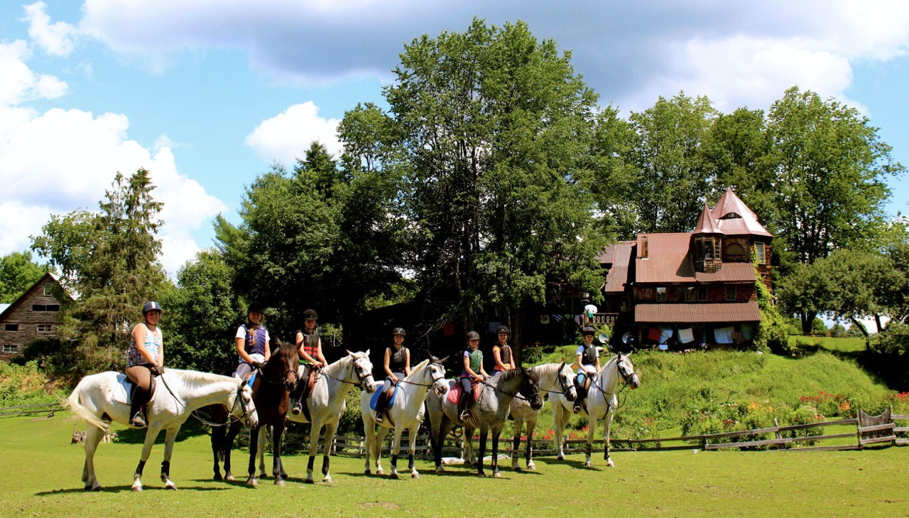 A group of campers at the South Royalton Farm