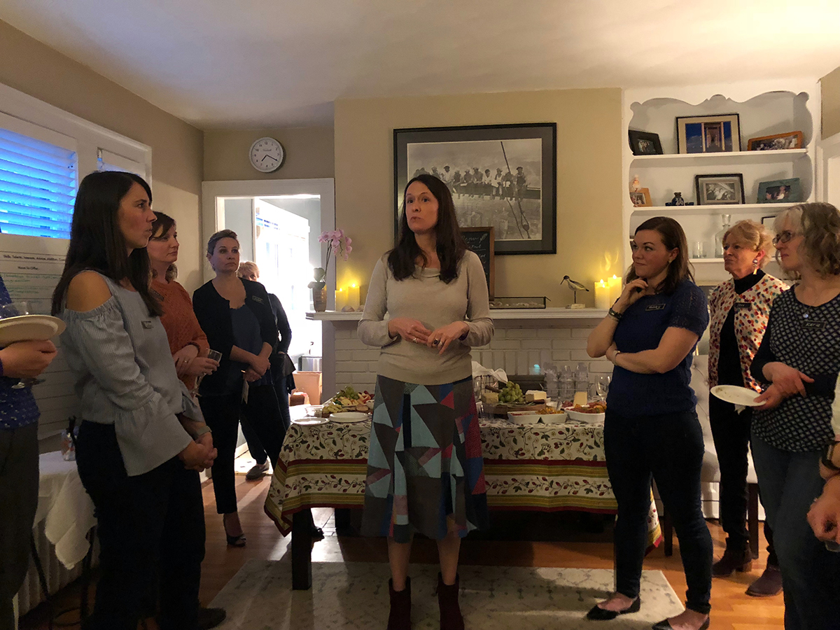 Women networking in West Hartford with Connecticut State Representative Jillian Gilchrest.