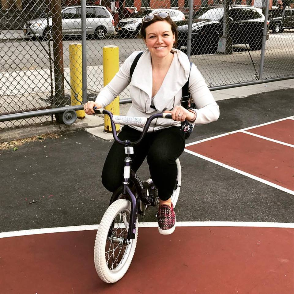 Ashley outgrows her fear of city living and this too-small bike.