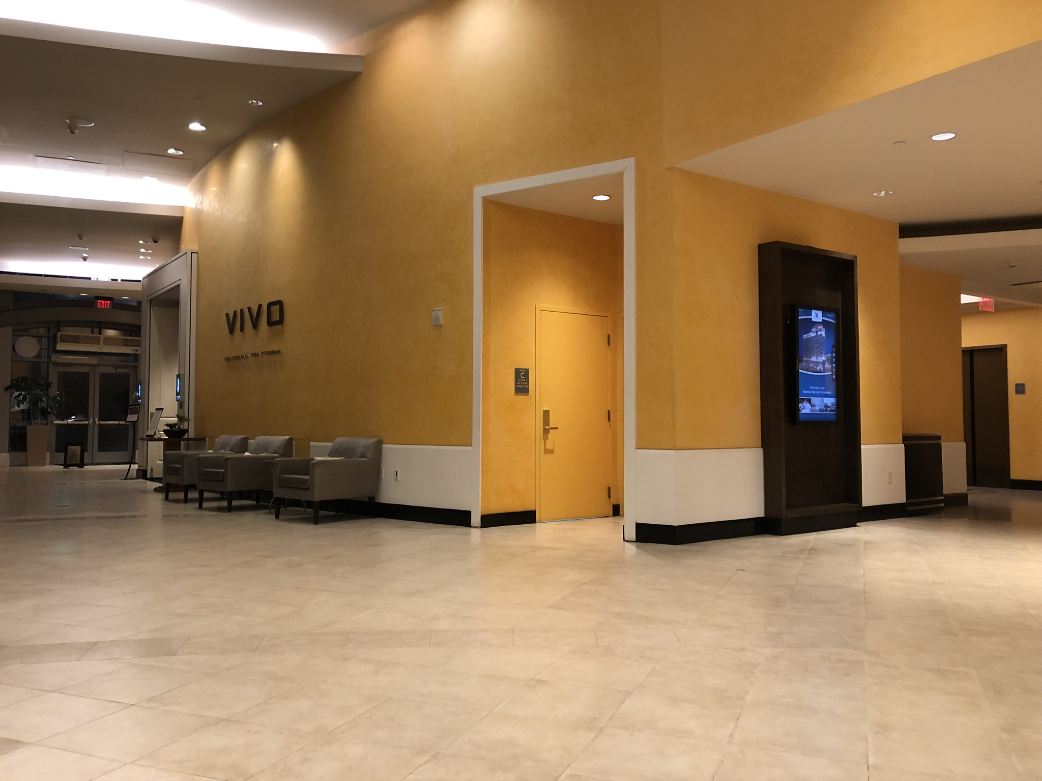 Lobby of the Marriott