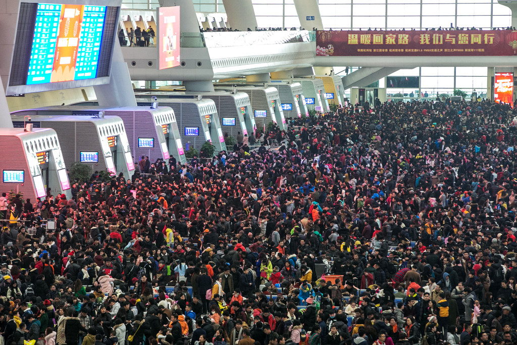 Migration Chinese New Year - train station