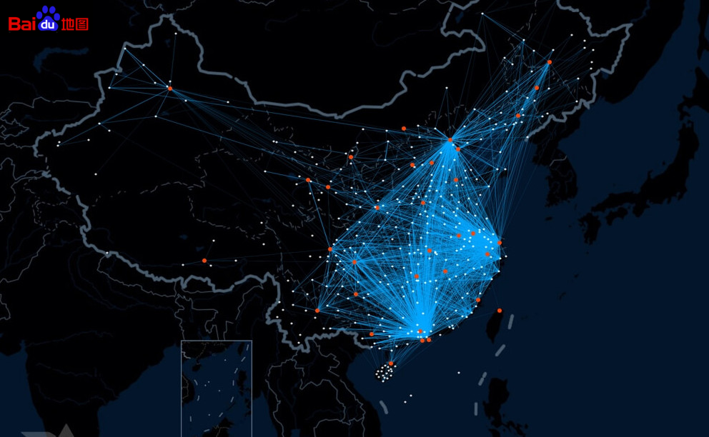 Heat map migratiebeweging - door Baidu