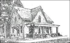 The original home at 33 W Broadway St.