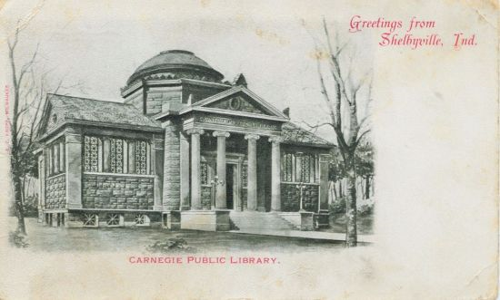 Postcard with original architectural rendering for the building.