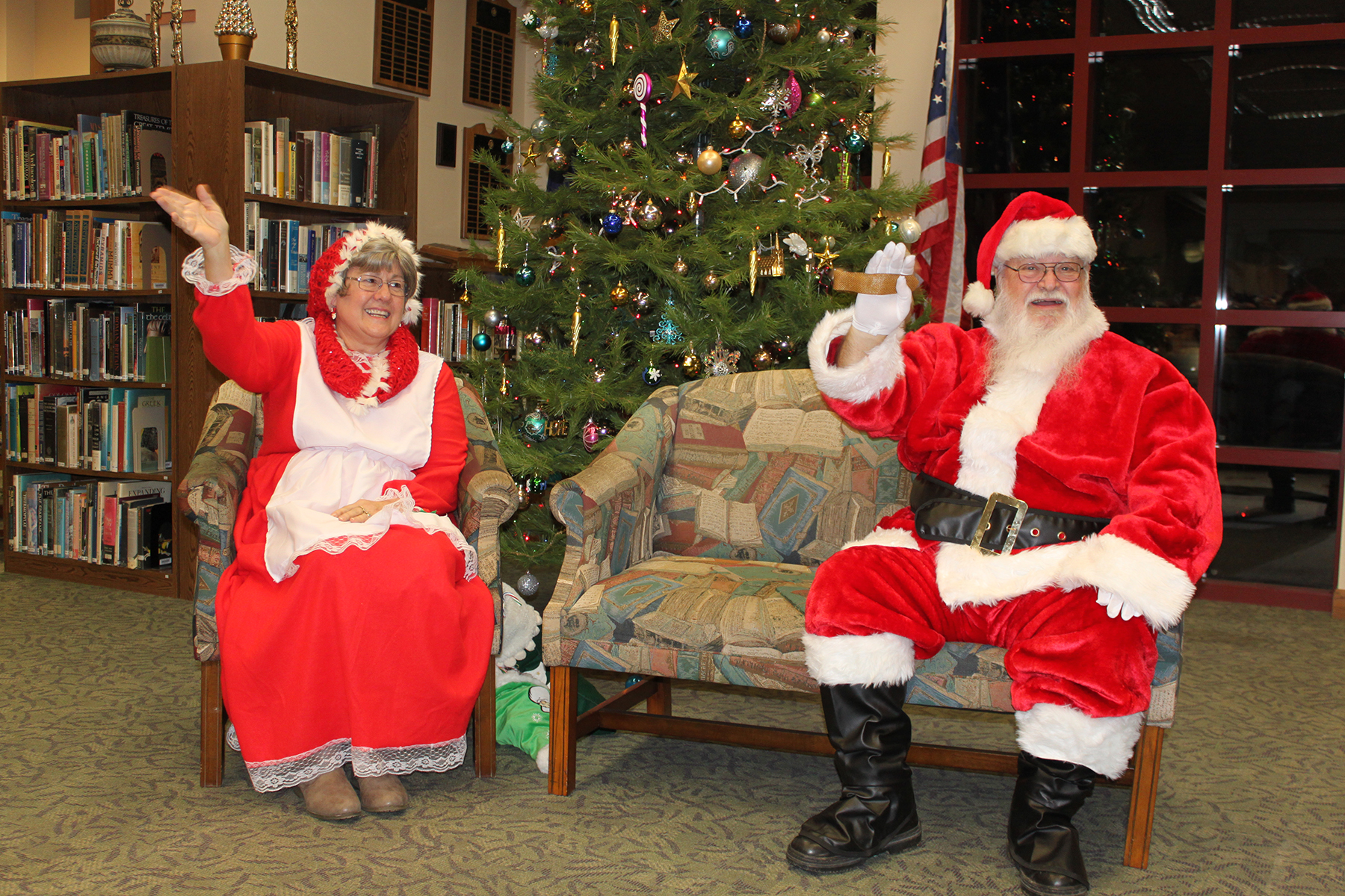 Santa and Mrs. Claus at the annual Christmas Tea