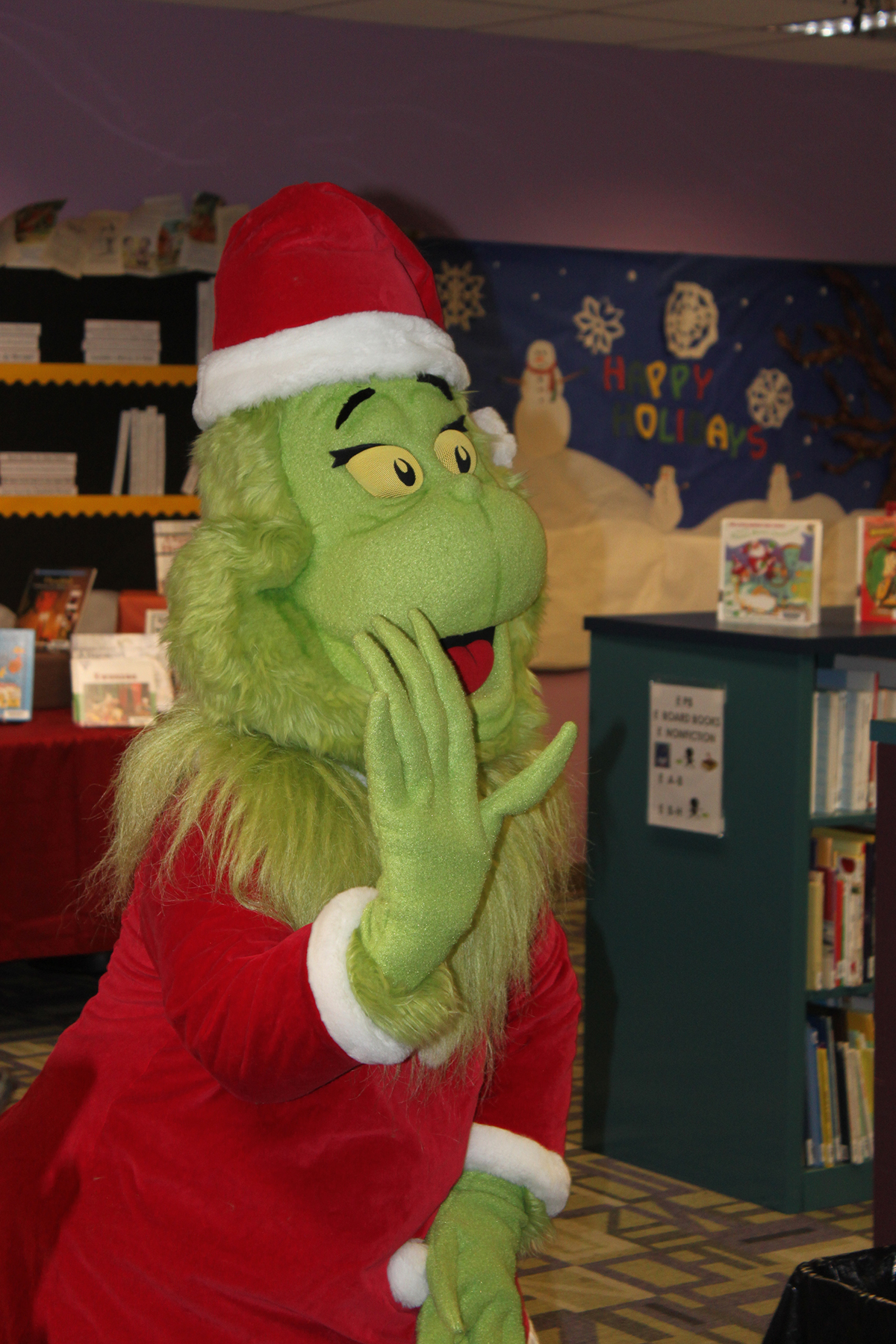 The Grinch at the annual Christmas Tea