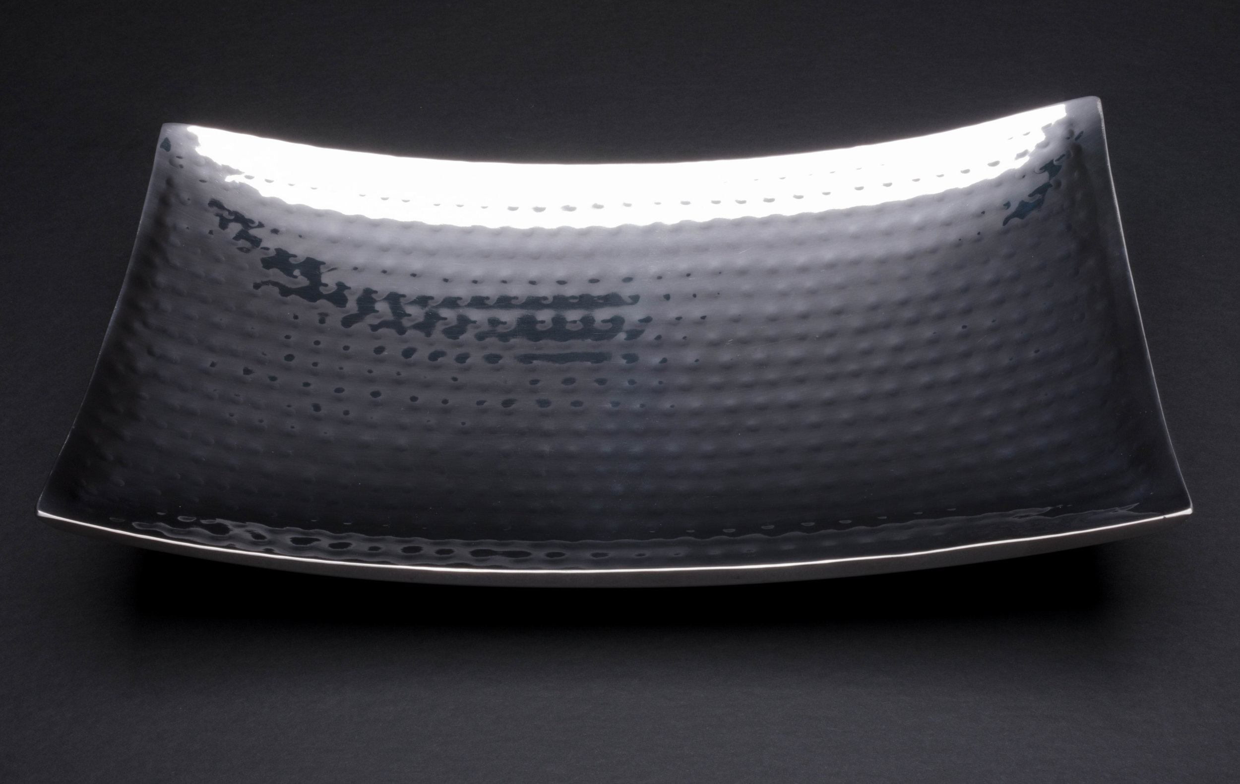 Hammered Curved Tray