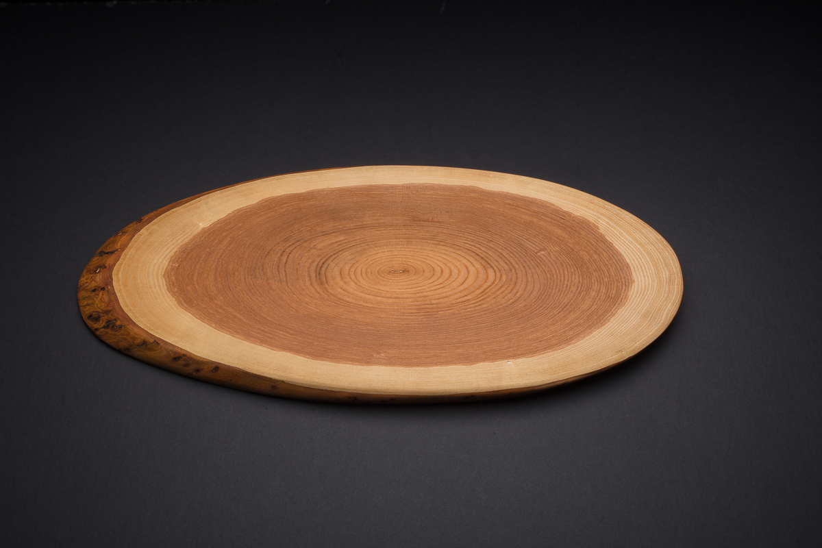 """Small Oval Wood Platter (approx 17"""" x 9"""")"""