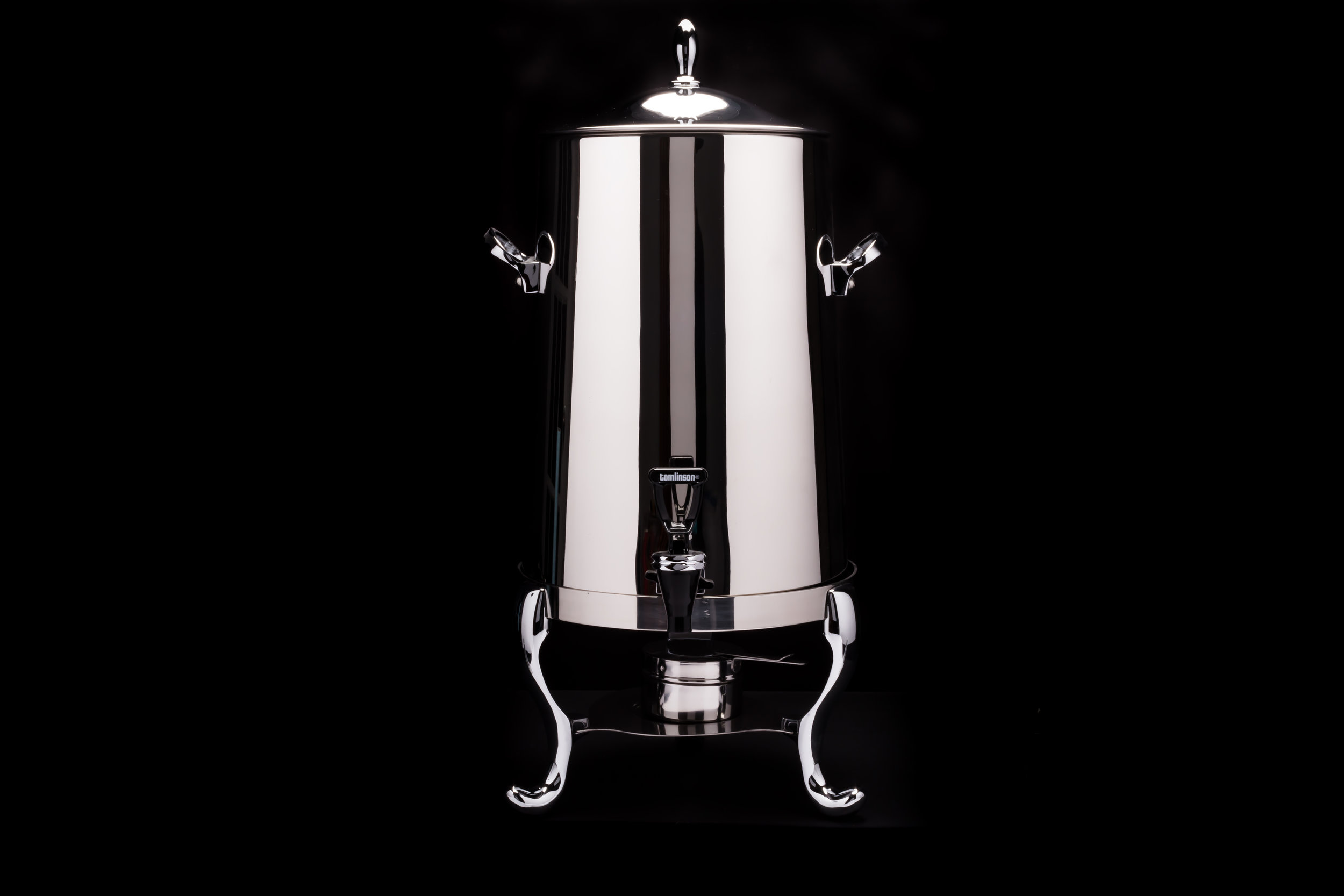 Polished Stainless Steel Samovar - 100 cup