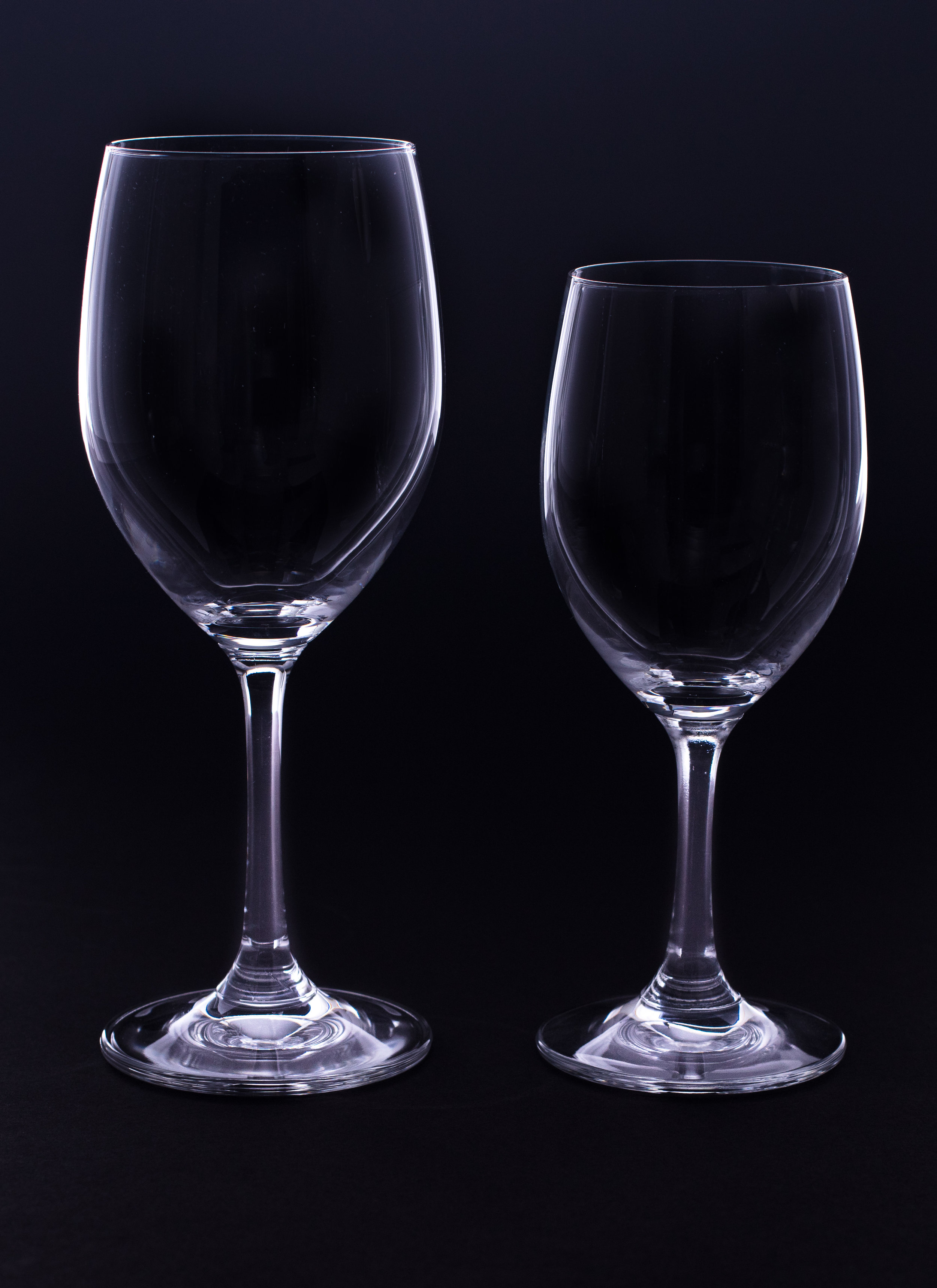 Red and White Wine Glass - Bar Crystal