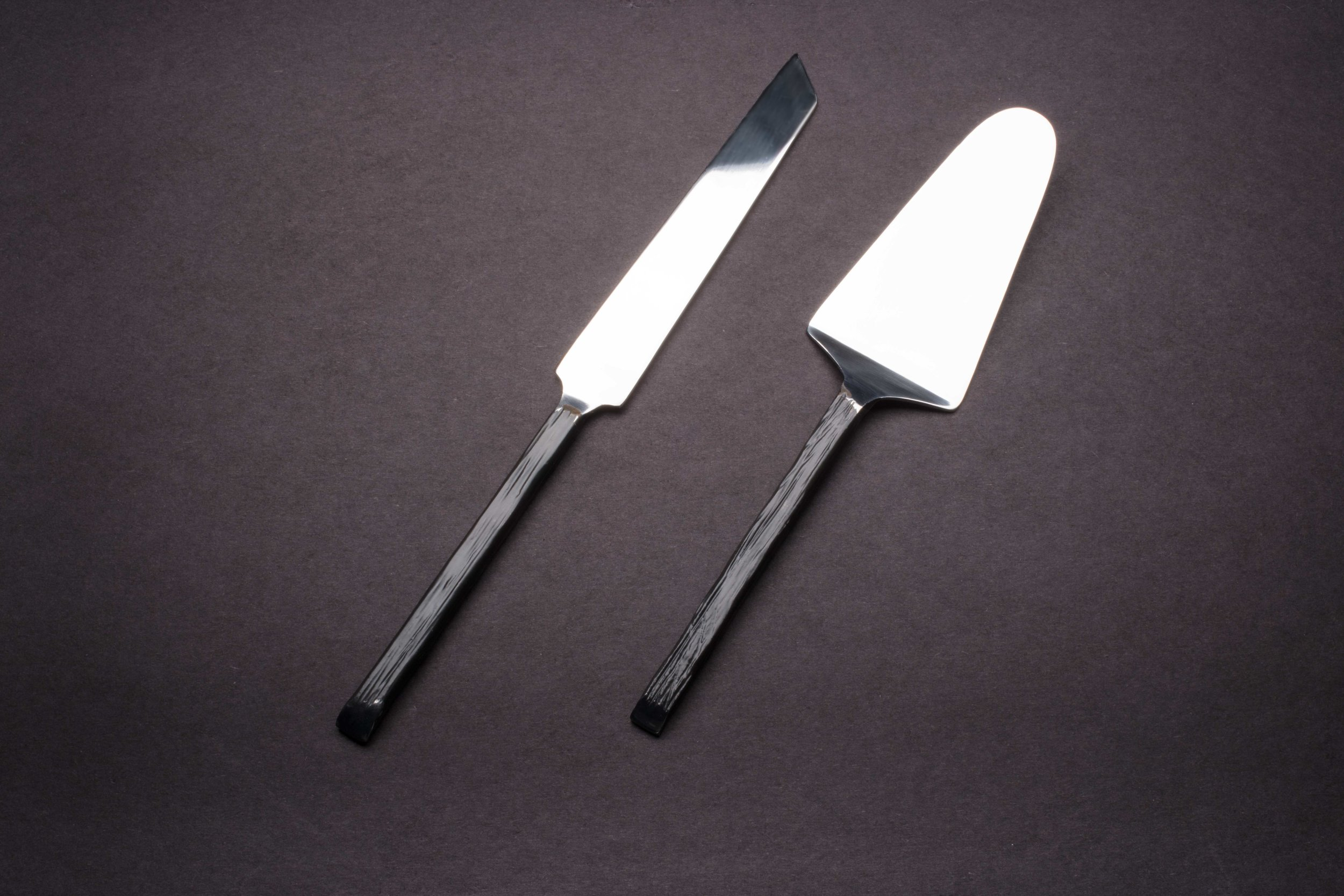 Dark Pewter Cake Lifter and Knife