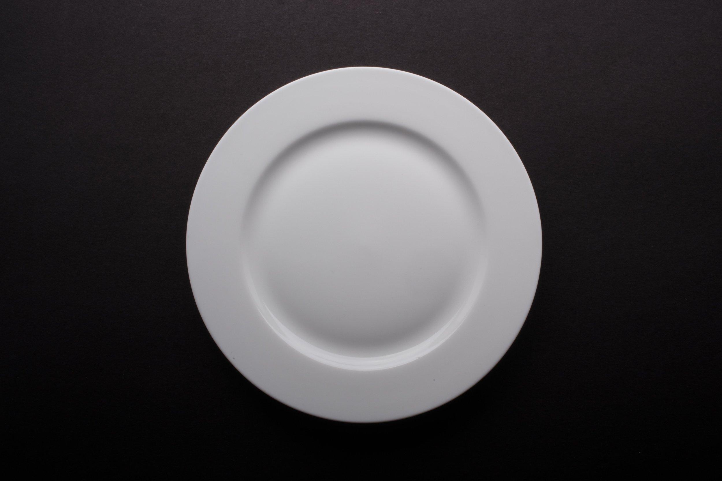 """Bone White China 8"""""""