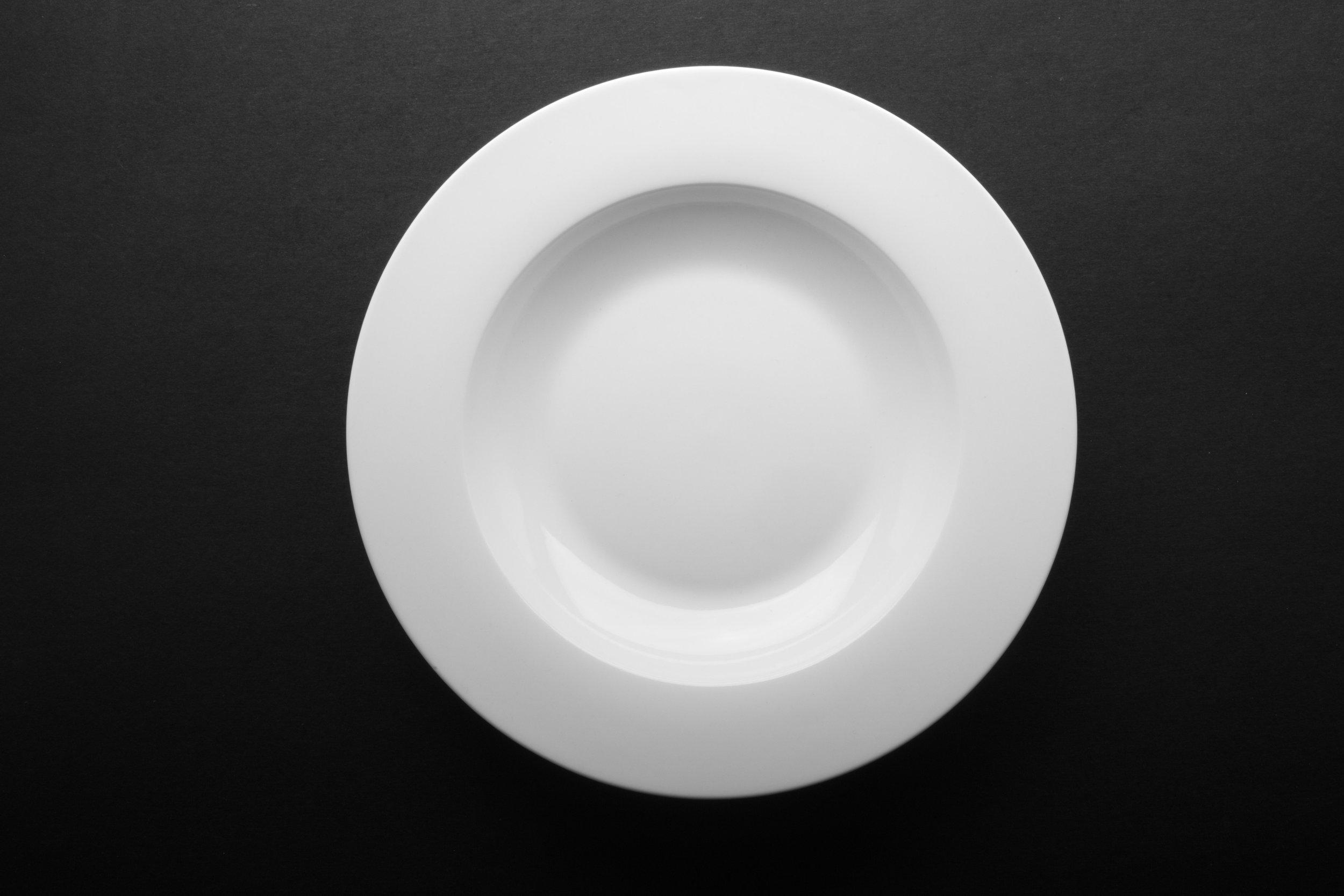 """Bone White China Soup Bowl 9"""""""