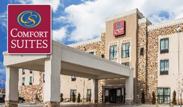 Comfort Suites - 2700 W Wyatt Earp, Dodge City, KS620-801-4545Stay & Play Rate $129 plus tax