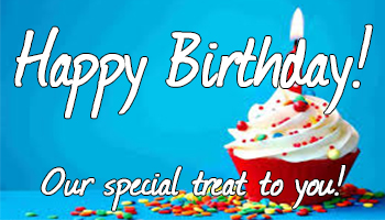 Happy Birthday - THE MONTH OF YOUR BIRTHDAY!Visit us any time during the month of your birthday to reveal your free play prize! PRIZES UP TO $25 FREE PLAY!ON YOUR BIRTHDAY!Get a FREE dessert at Firesides or Cowboy Cafe on the day of your birthday!