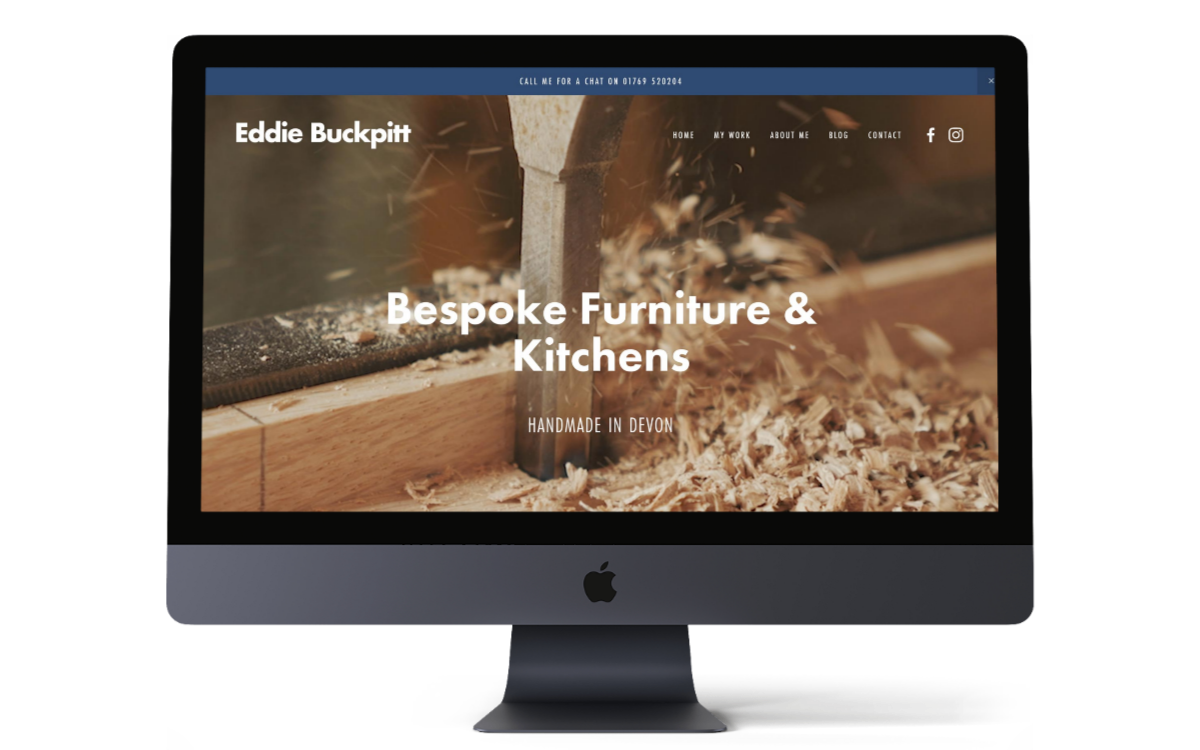Eddie Buckpitt Devon bespoke furniture and kitchens - rebrand and fresh new Squarespace portfolio website