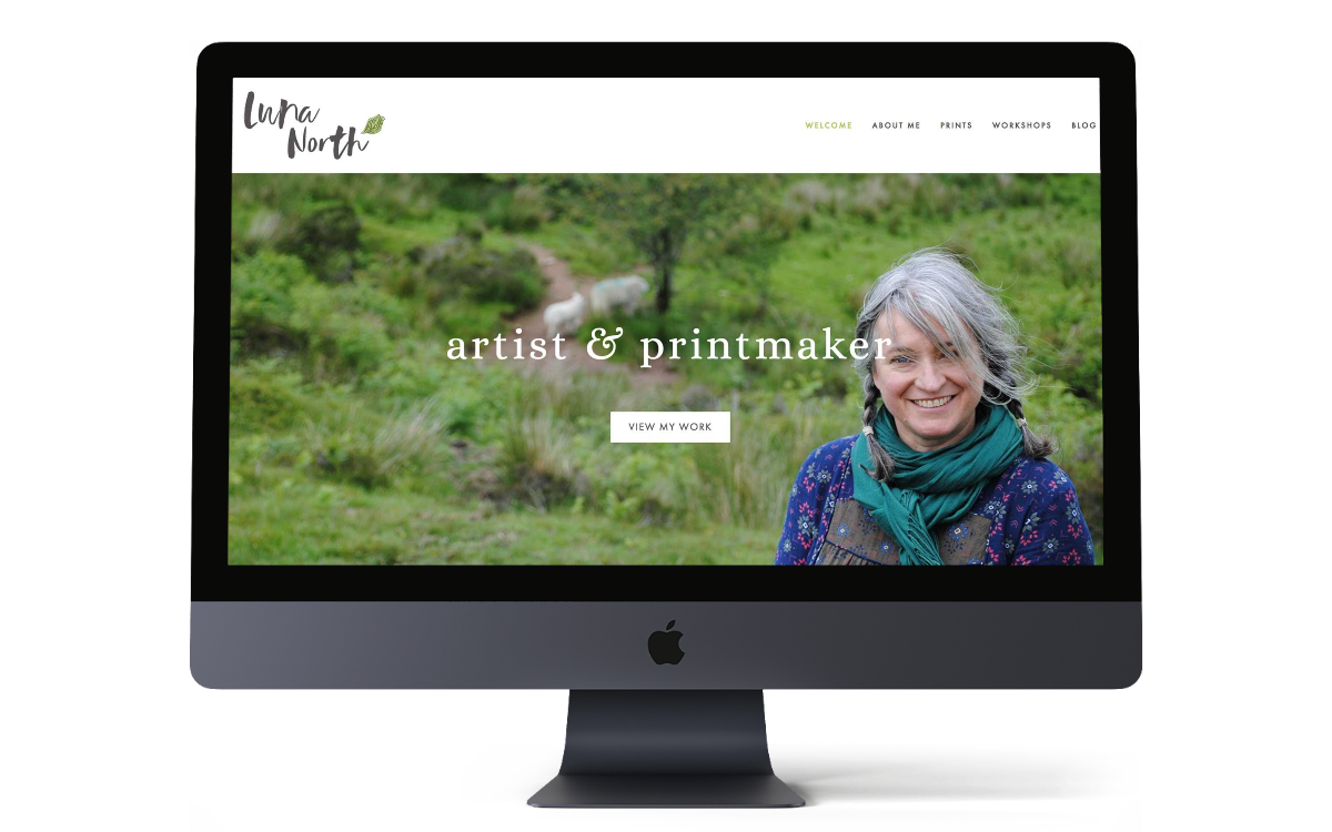 Luna North Printmaker New Squarespace eCommerce Website and Branding