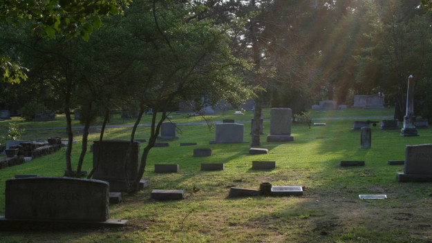 If you're living next to this cemetery, you can't be buried there.