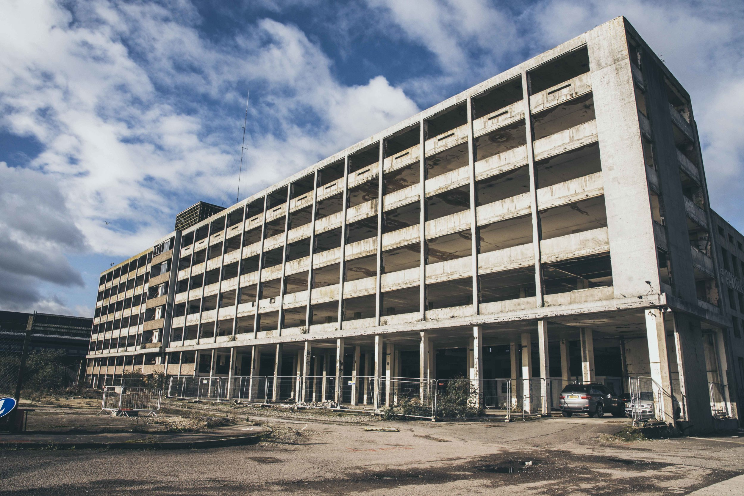 The Parcel Force building from the Cattle Market Road side. Callum Burns