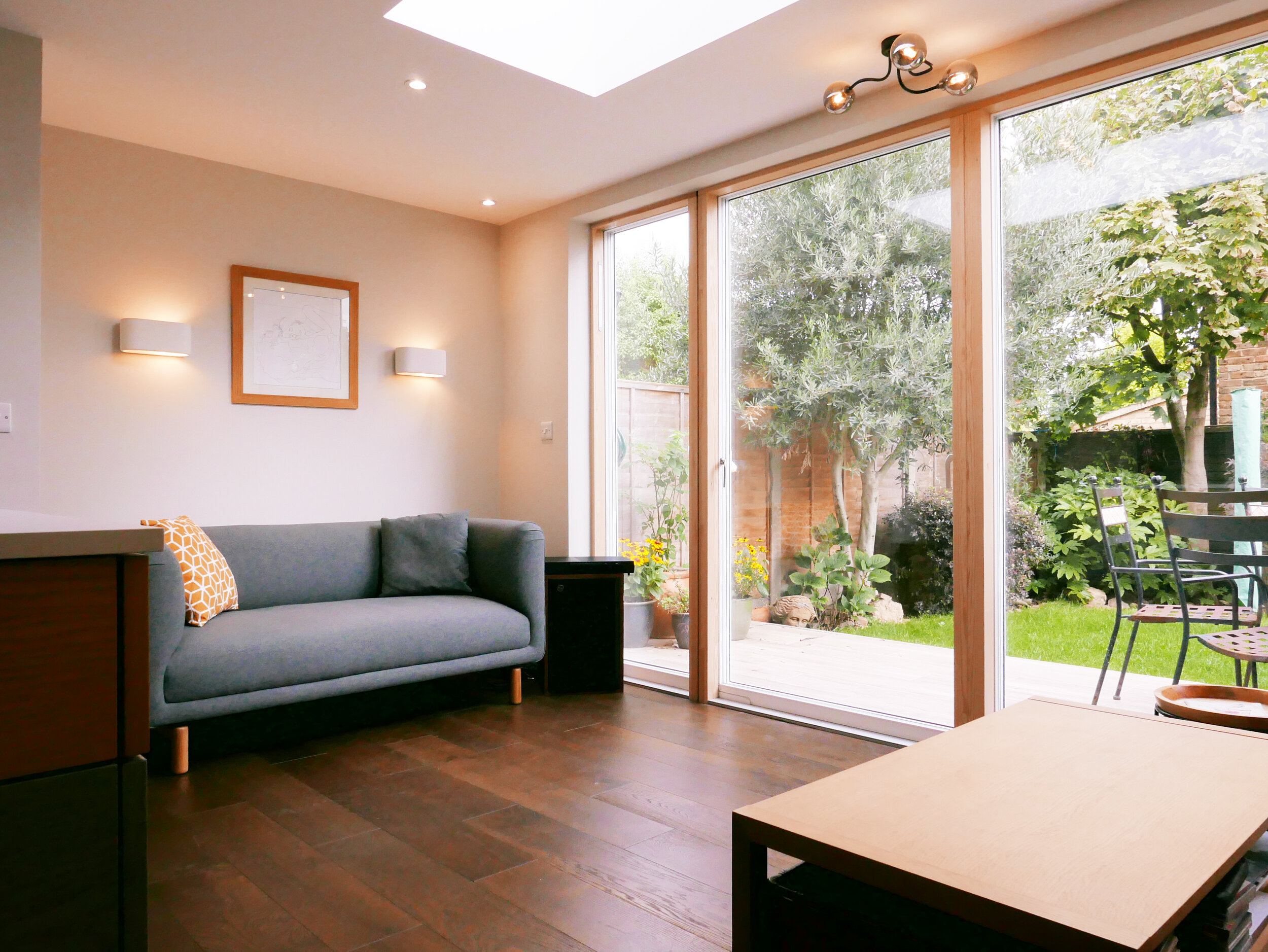 Back Extension Lounge Sitting Area Panoramic Doors South Woodford
