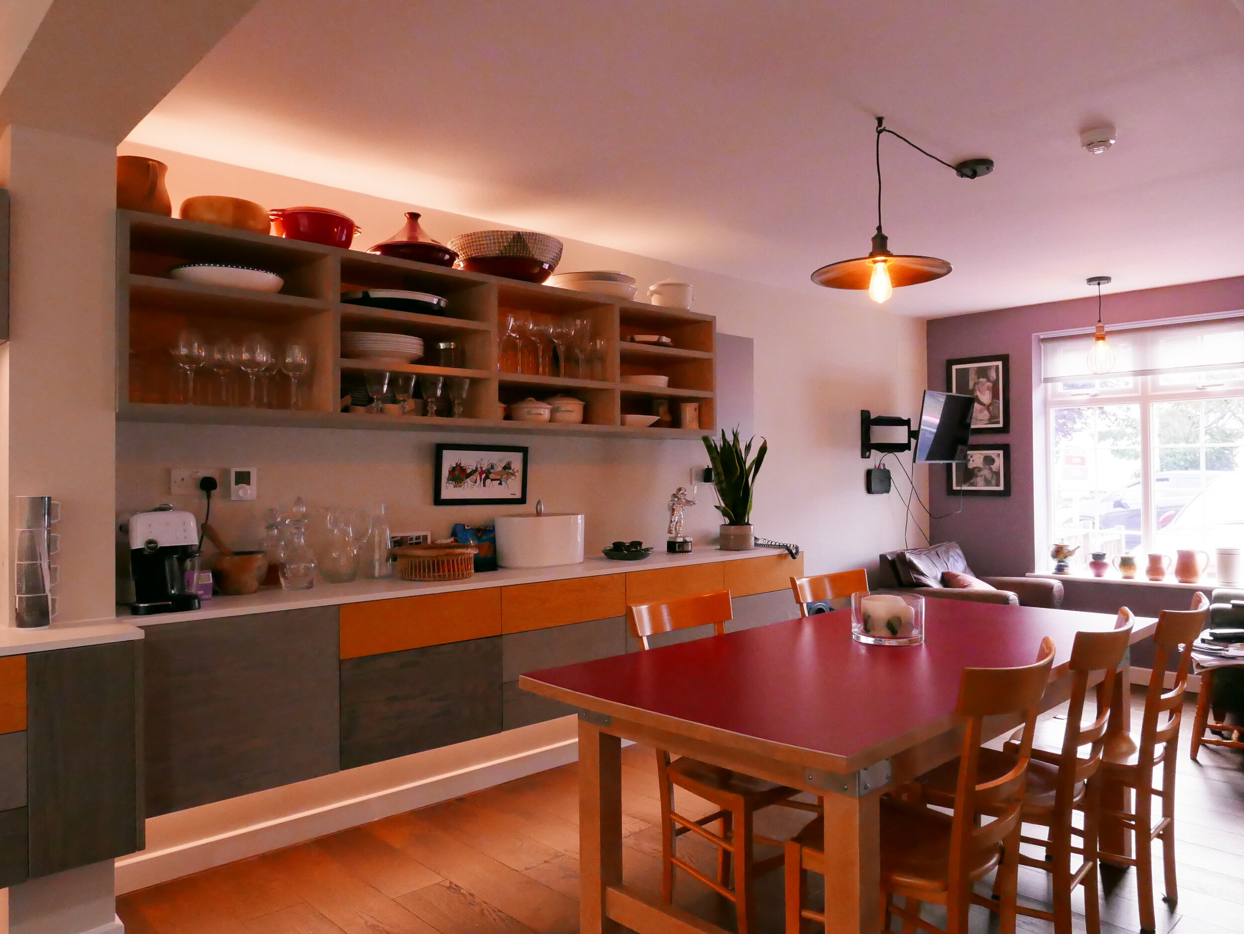 Upcycled Table Open Plan Living Bespoke Kitchen Design