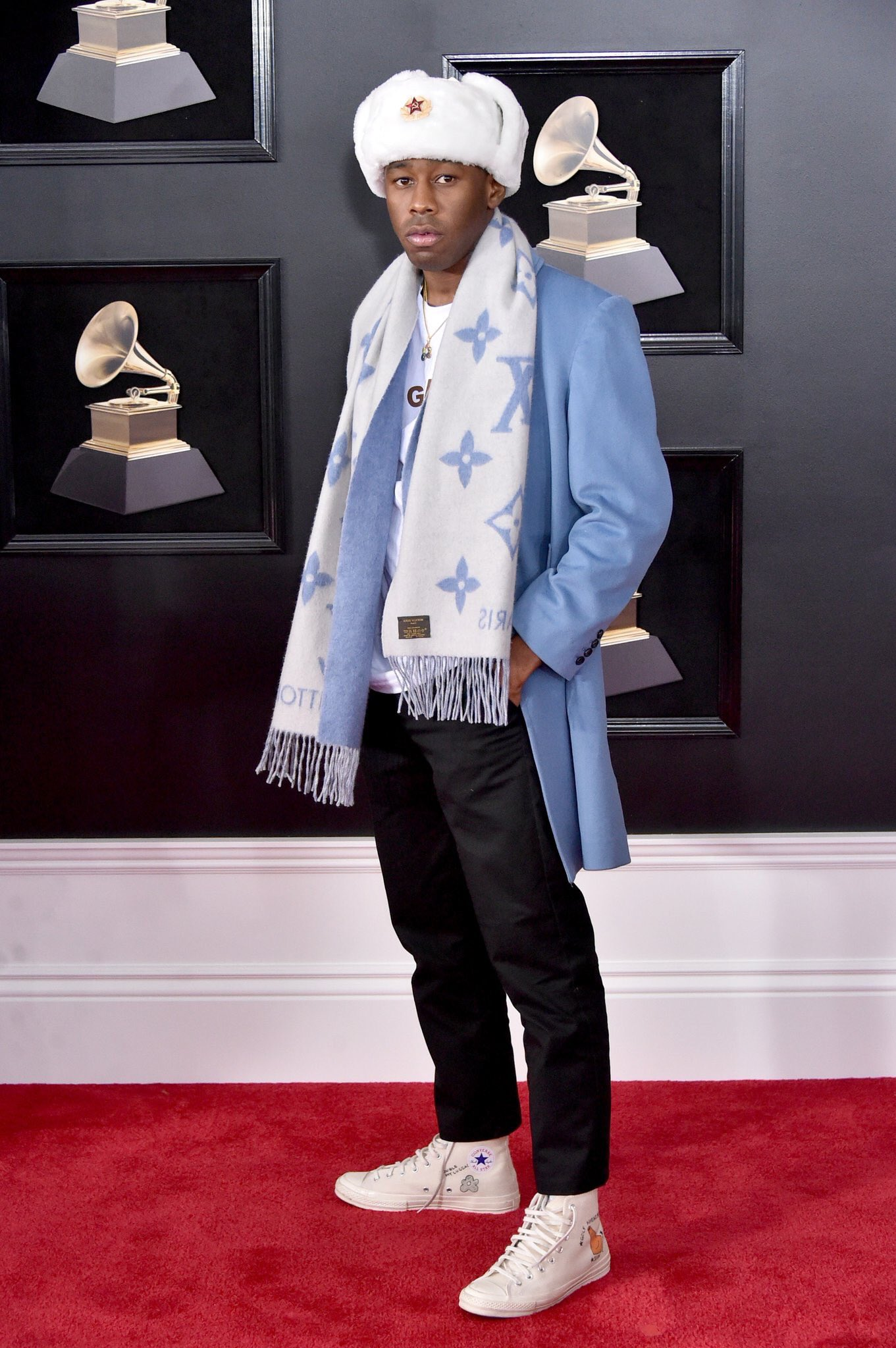 Tyler The Creator looking cool af in Louis Vuitton