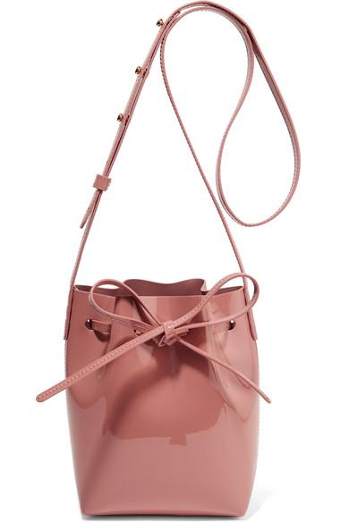 Mansur Gavriel Mini Mini Patent-Leather Bucket Bag $345,  Net-A-Porter.com